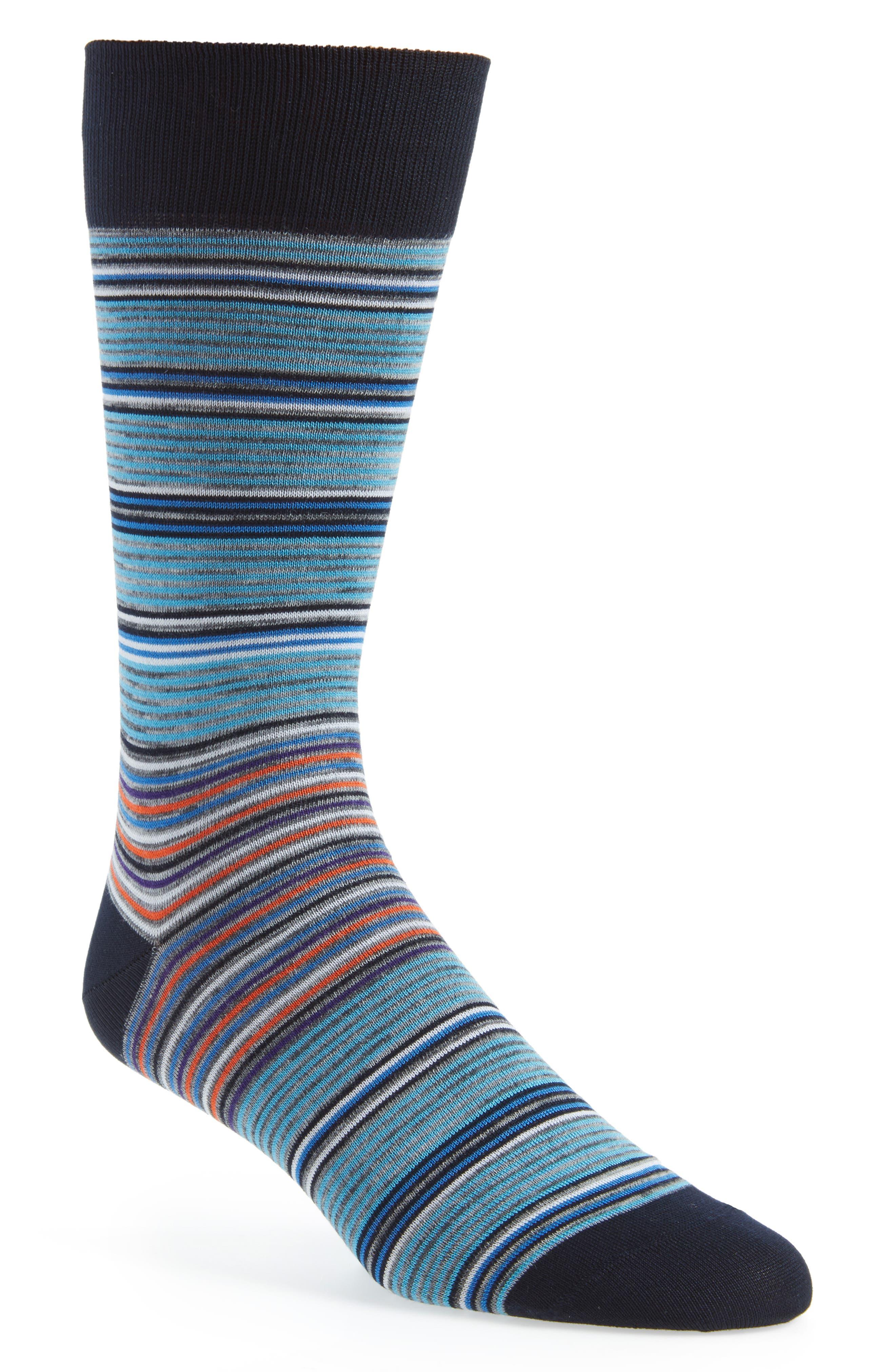 Cotton Blend Socks,                         Main,                         color, Mint