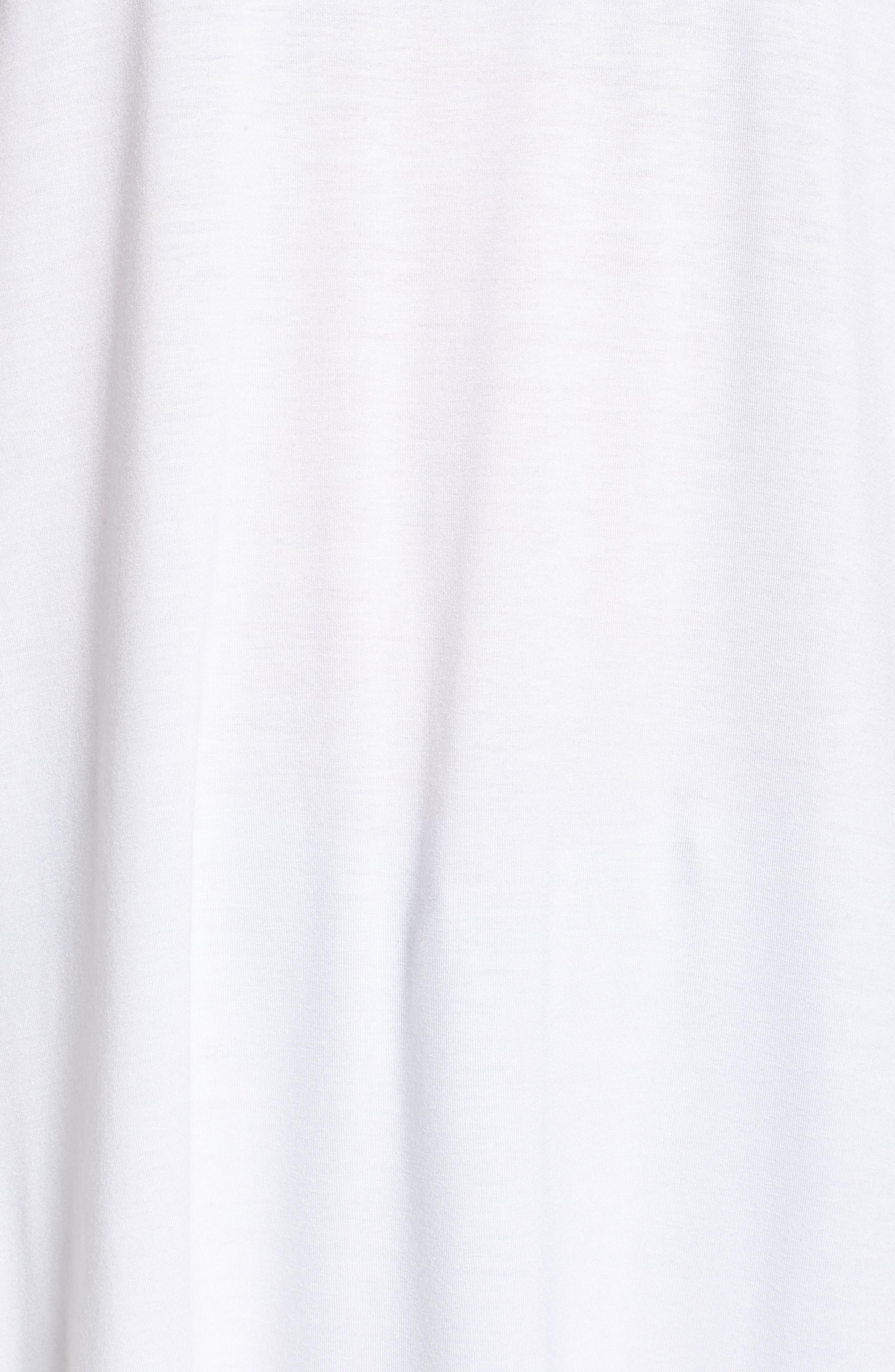 Long Jersey Tunic,                             Alternate thumbnail 6, color,                             White