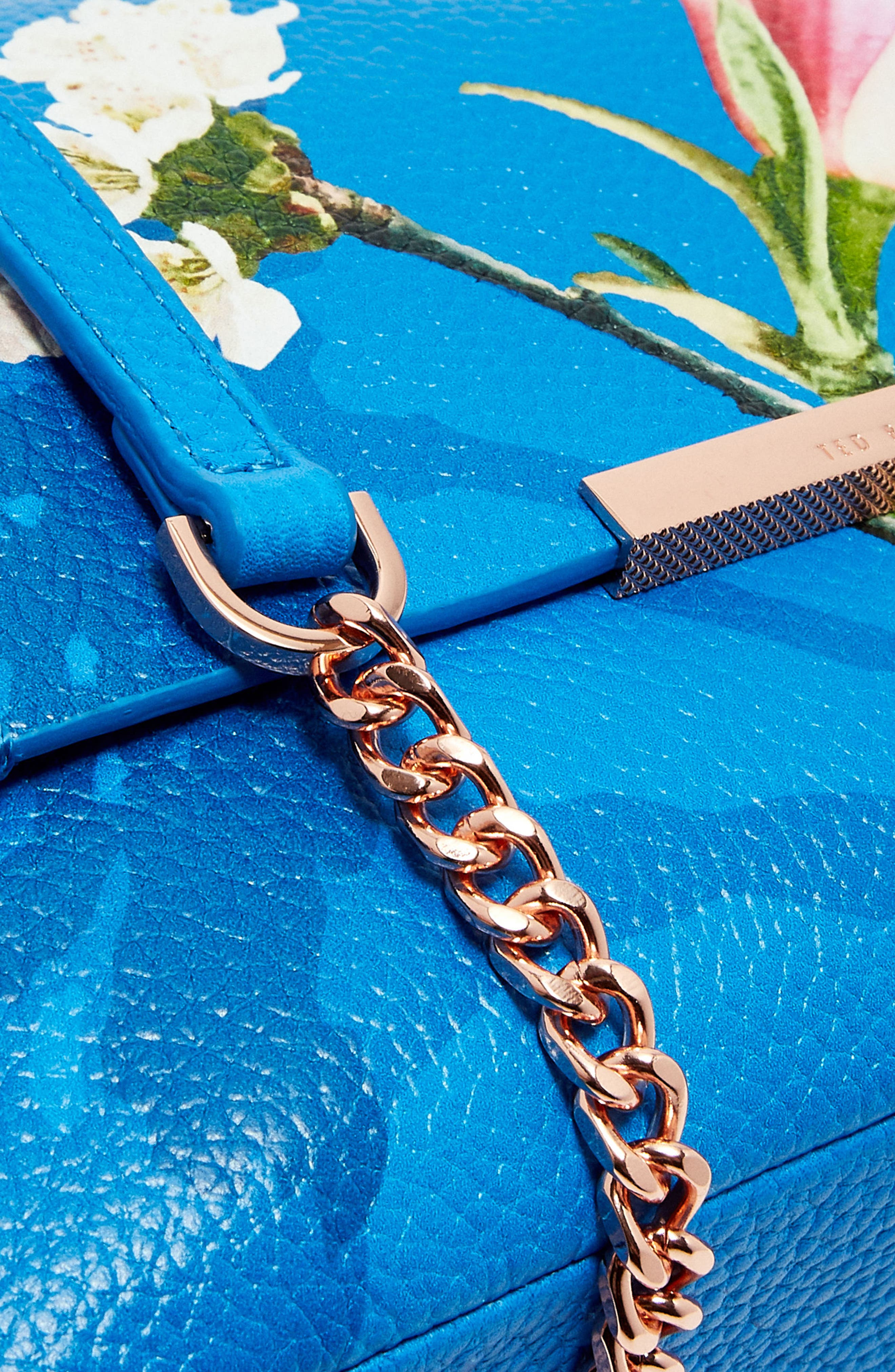Haalle Harmony Leather Crossbody Bag,                             Alternate thumbnail 5, color,                             Bright Blue