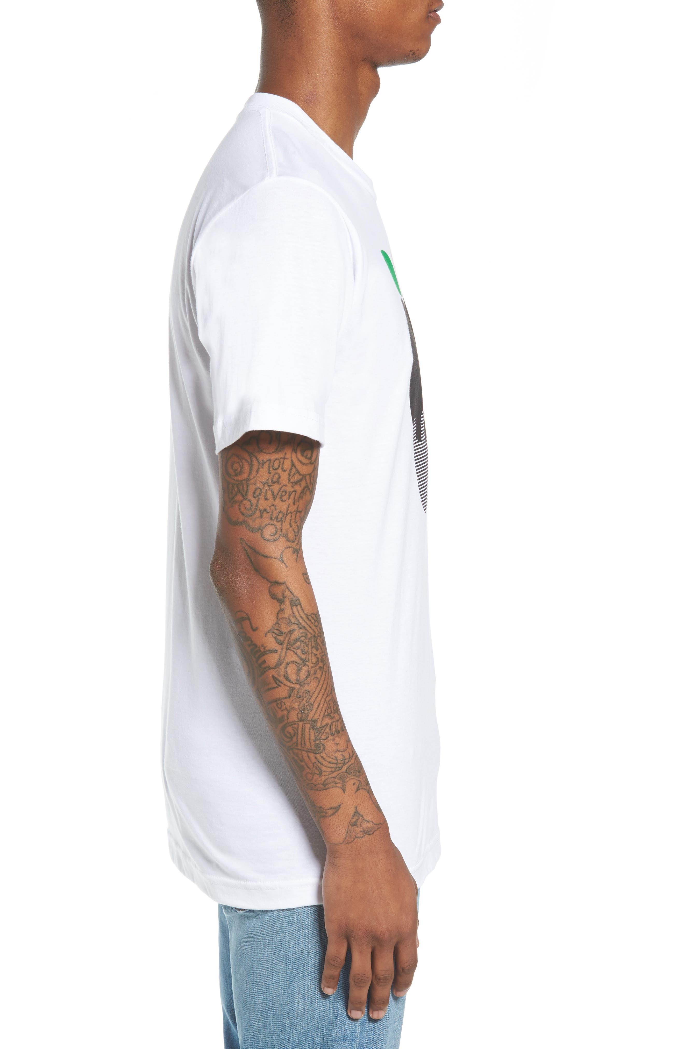 NY Apple Graphic T-Shirt,                             Alternate thumbnail 3, color,                             White