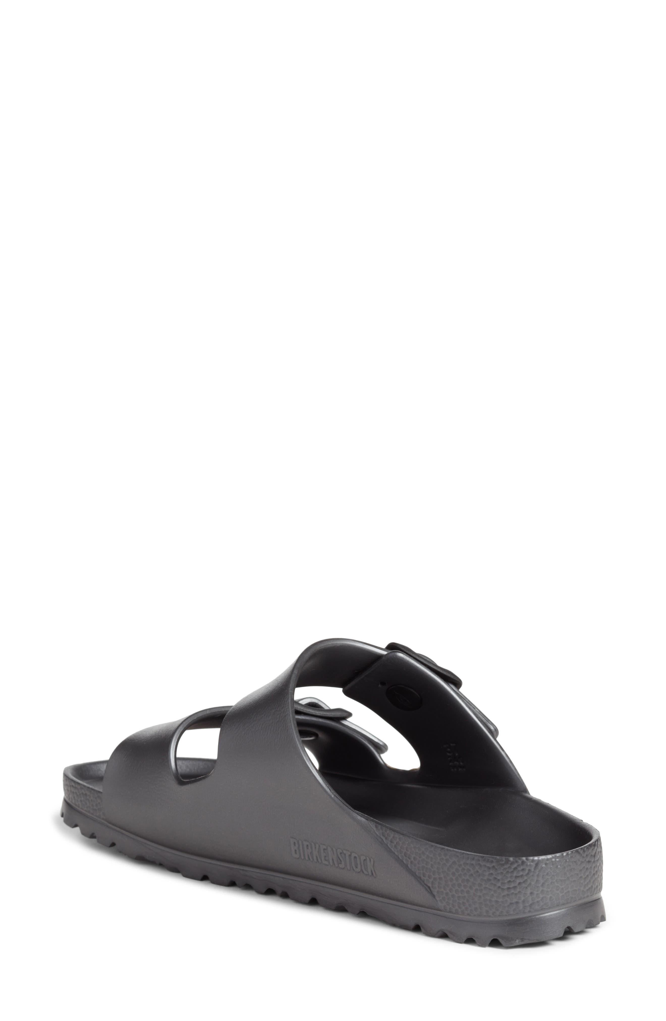 Essentials - Arizona Slide Sandal,                             Alternate thumbnail 2, color,                             Metallic Anthracite