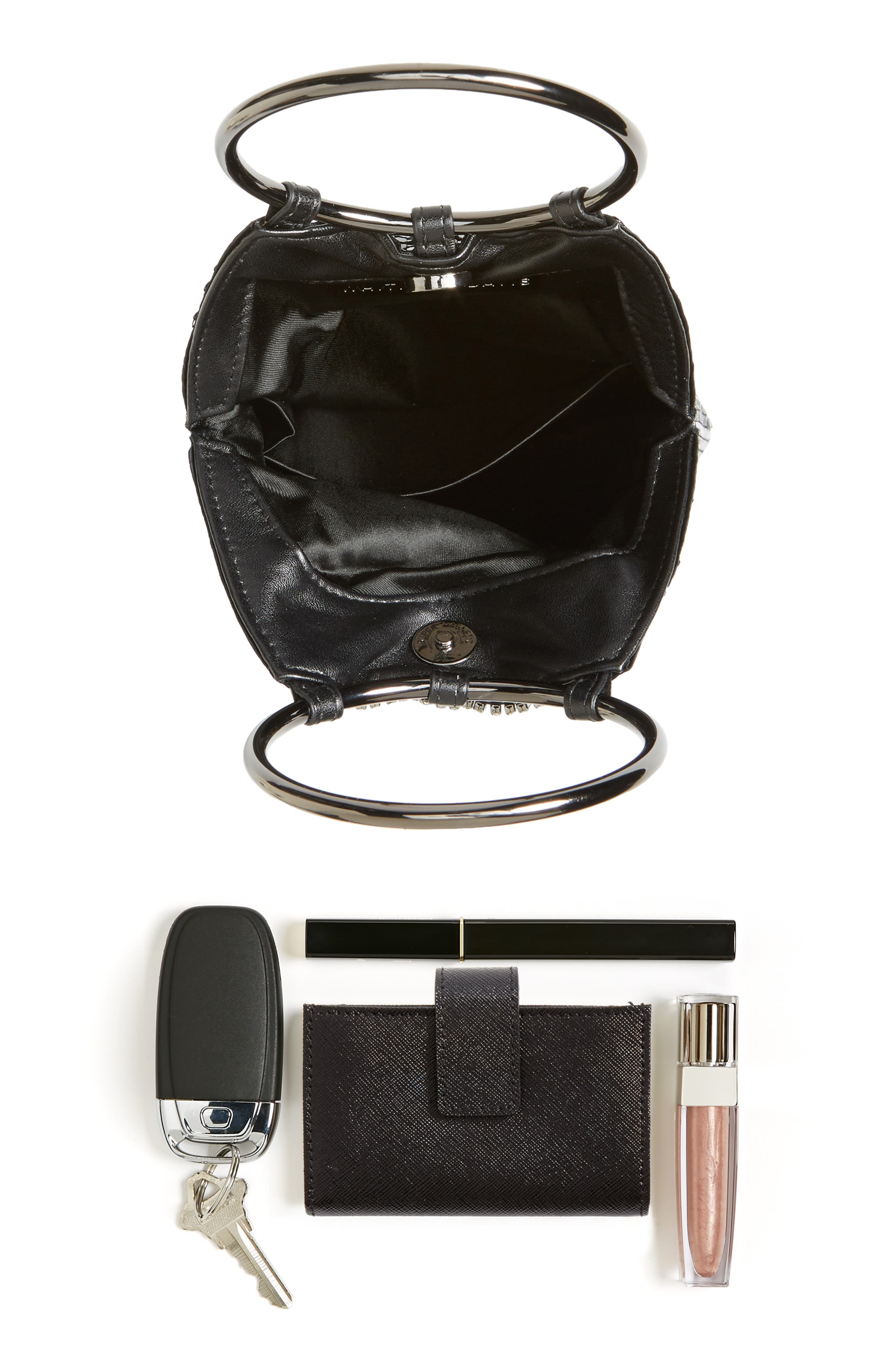 Alternate Image 7  - Whiting & Davis Cascade Crystal Fringe Mesh Bracelet Bag