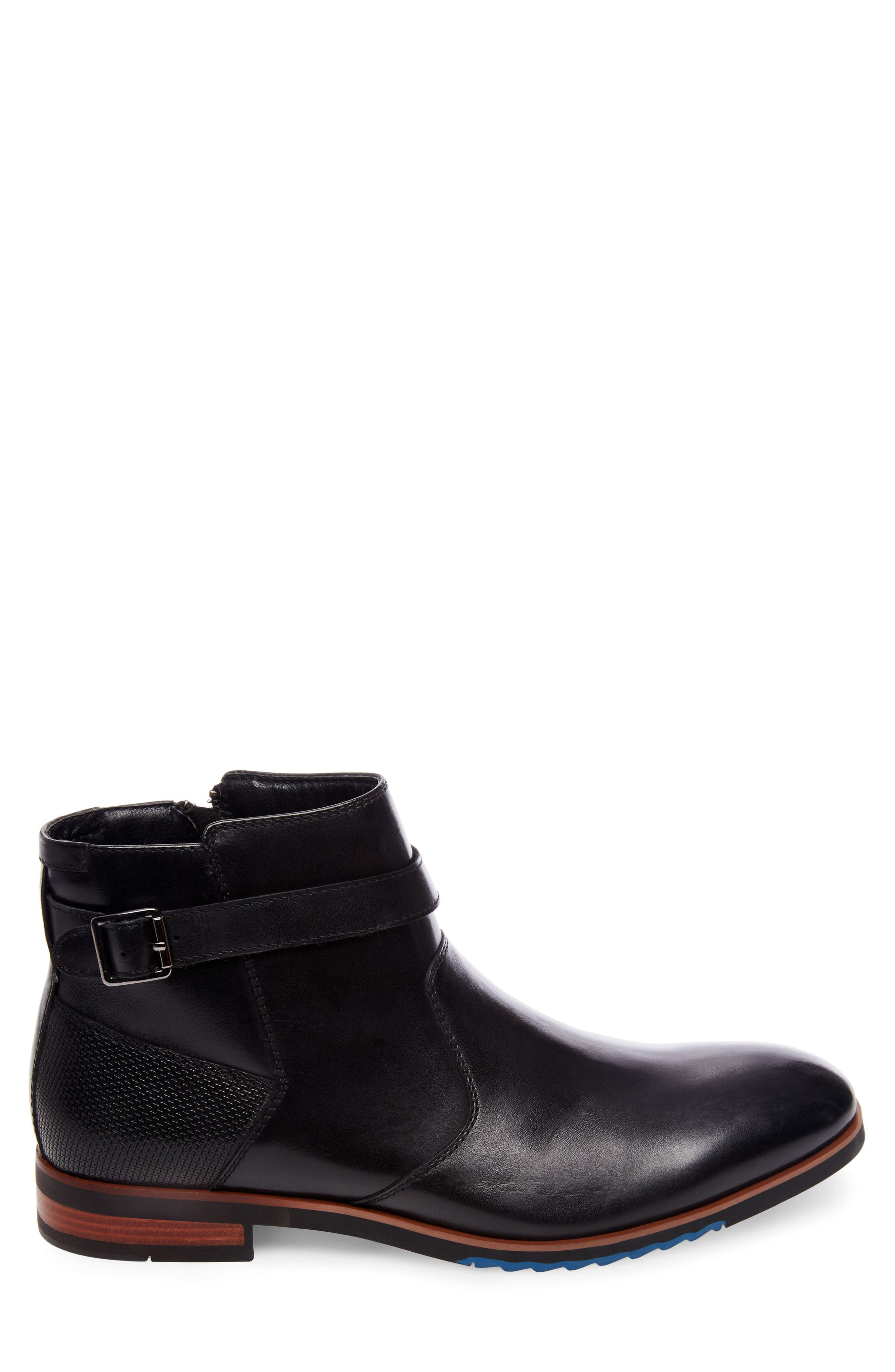 Levant Boot,                             Alternate thumbnail 3, color,                             Black Leather