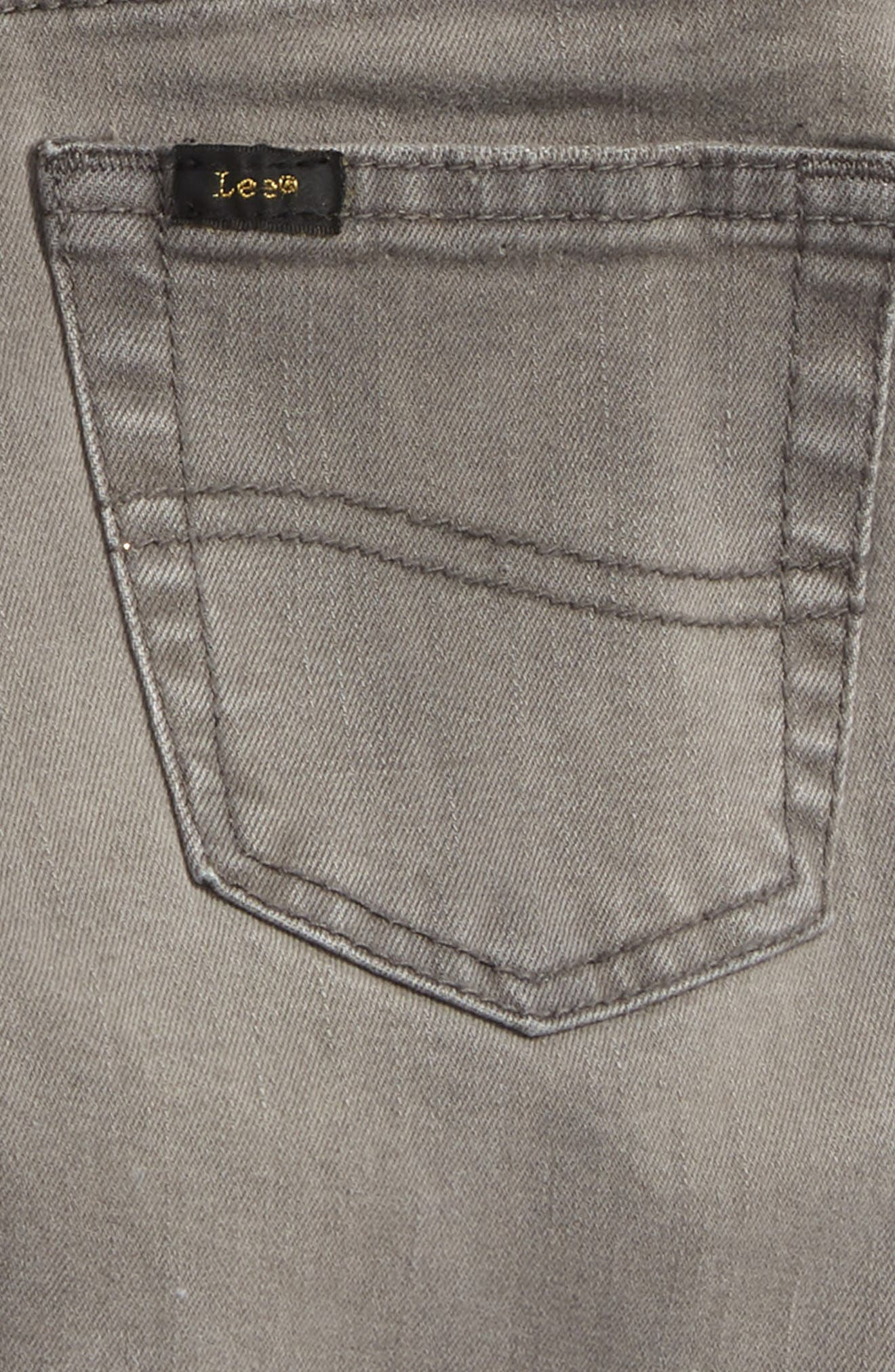 Stretch Denim Roll Cuff Shorts,                             Alternate thumbnail 3, color,                             Wrecked Boat Grey