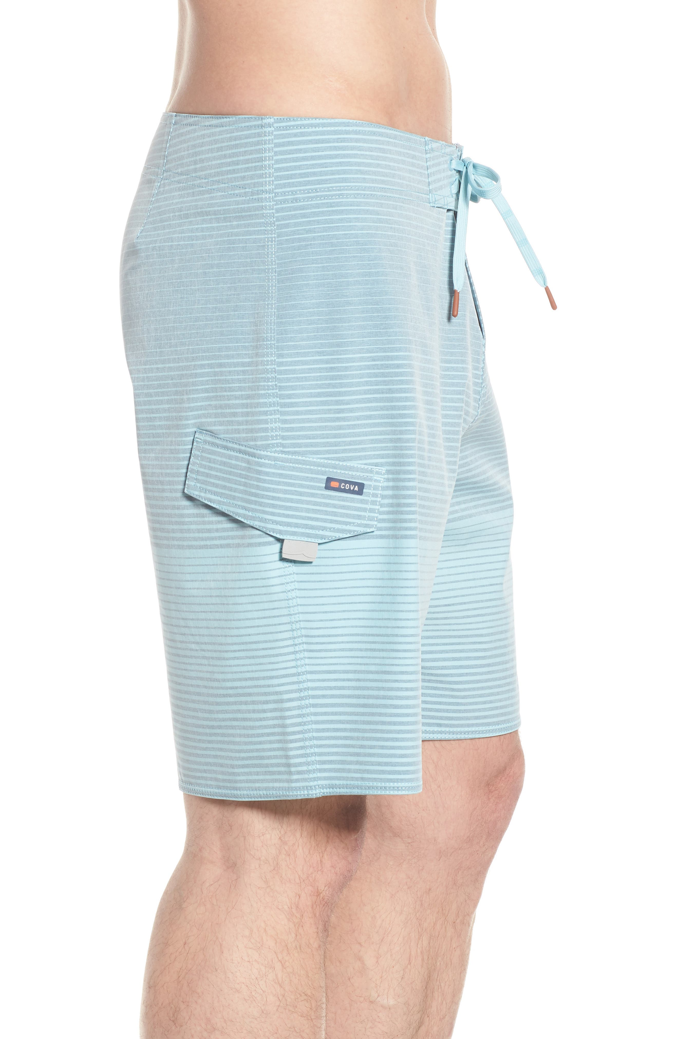 Water Level Board Shorts,                             Alternate thumbnail 3, color,                             Harbour Blue