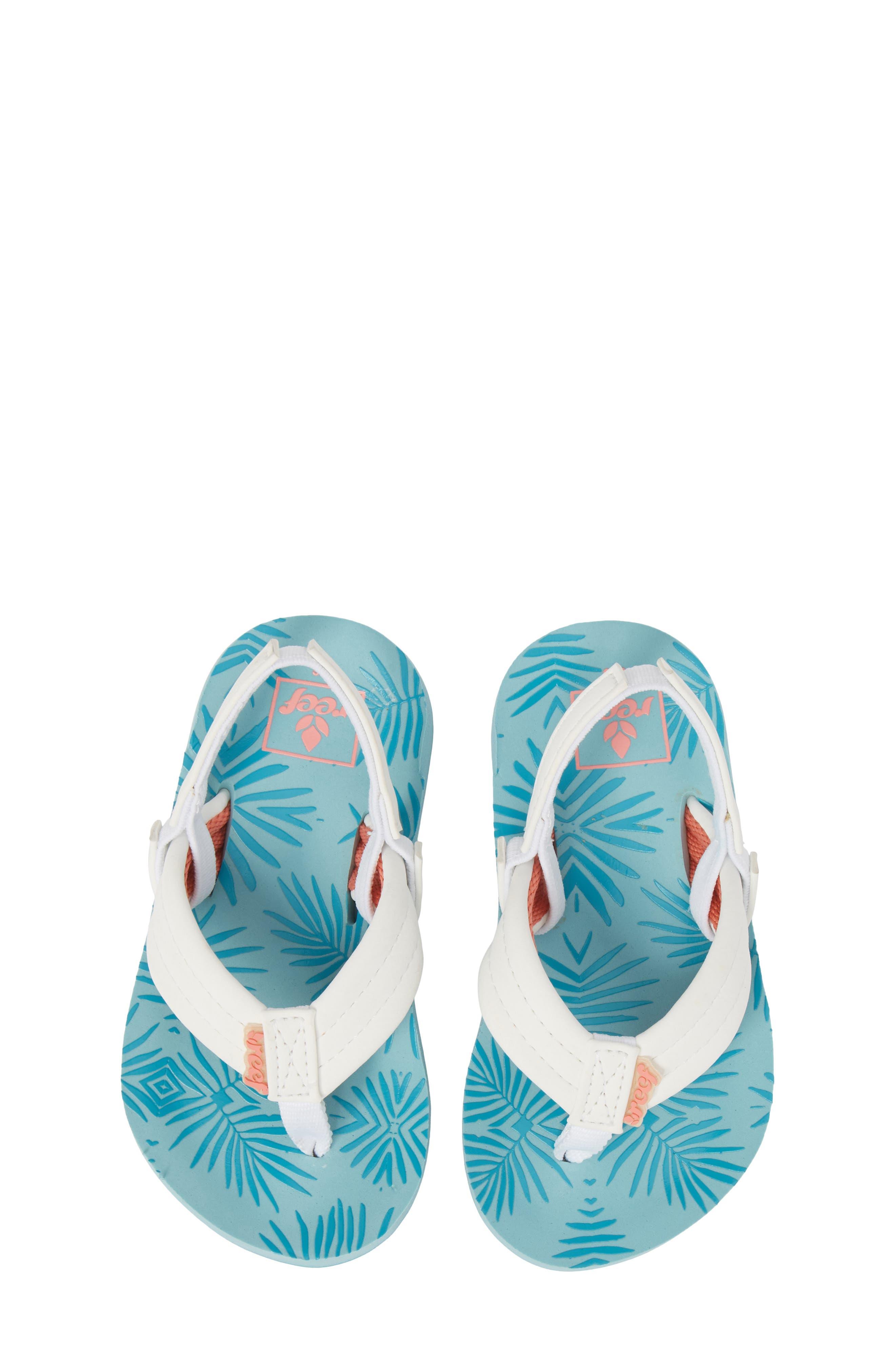 Little Reef Footprints Sandal,                             Main thumbnail 1, color,                             Blue
