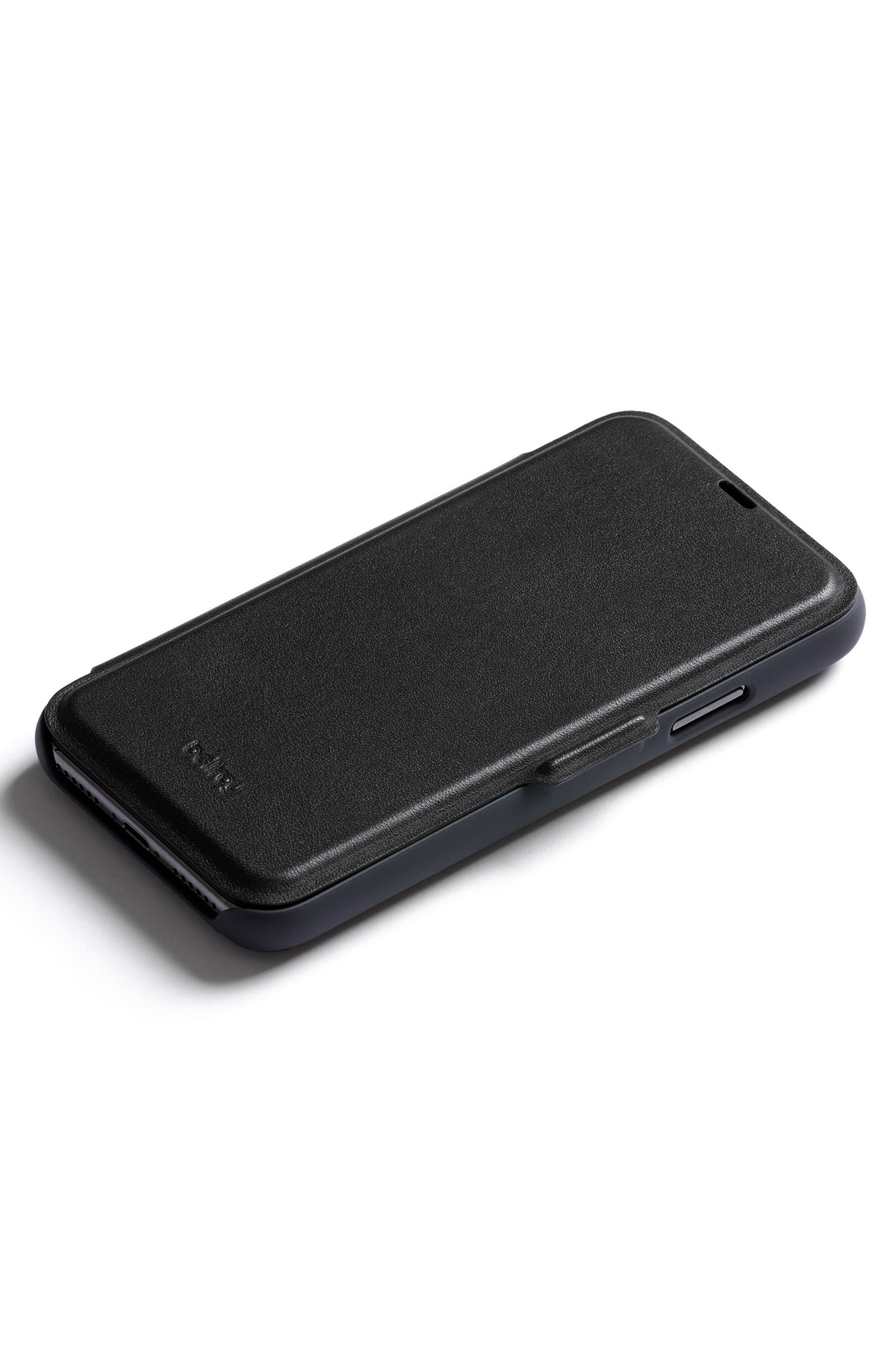 iPhone X Phone Wallet,                             Alternate thumbnail 2, color,                             Black