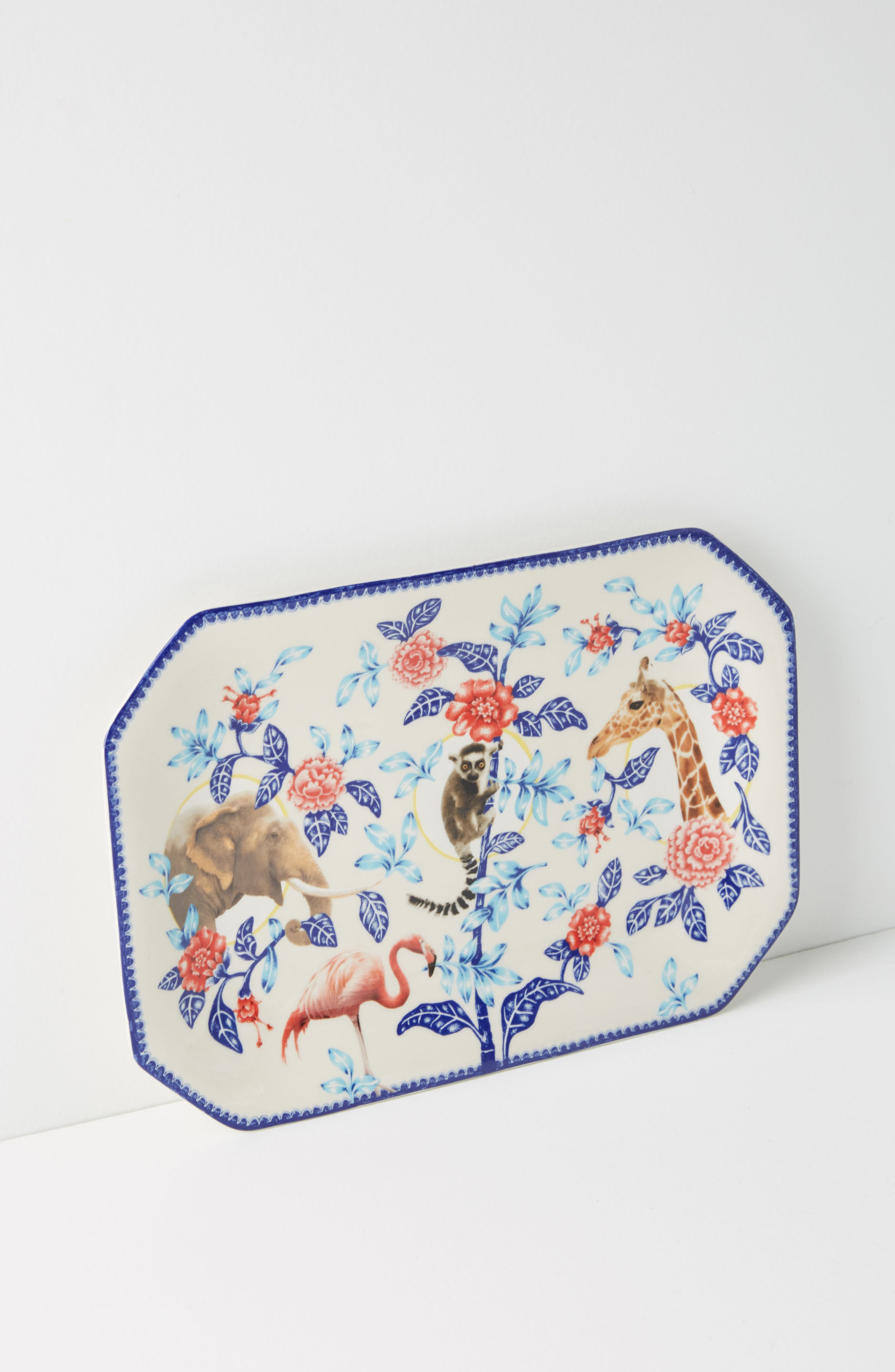 Nature Table Platter,                         Main,                         color, Blue Combo