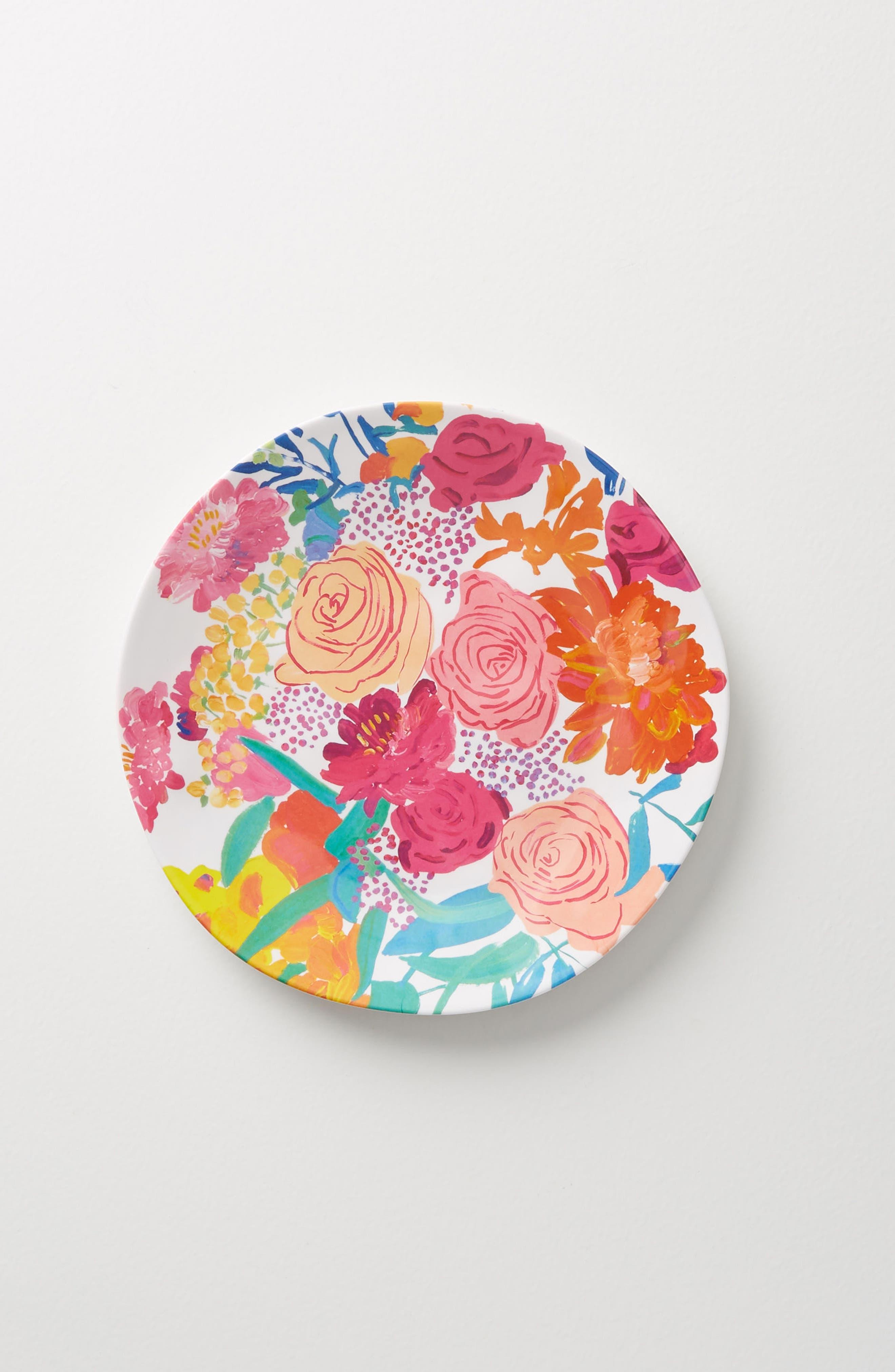 Anthropologie Paint + Petals Melamine Plate & Pink Dinner Plates Dinnerware: Dishes Plates \u0026 Bowls | Nordstrom