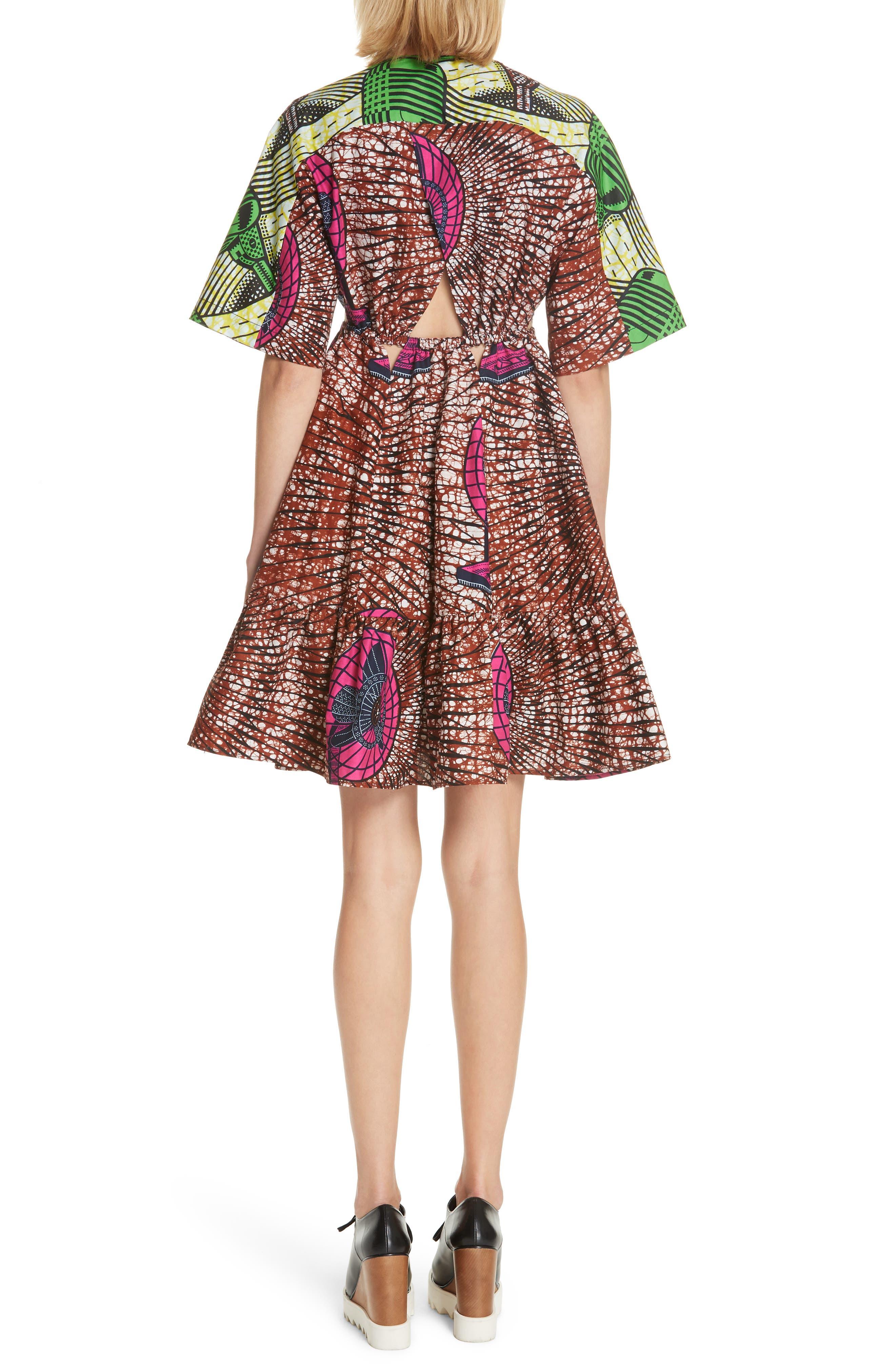 Print Cotton Dress,                             Alternate thumbnail 2, color,                             Dutch Fan Print