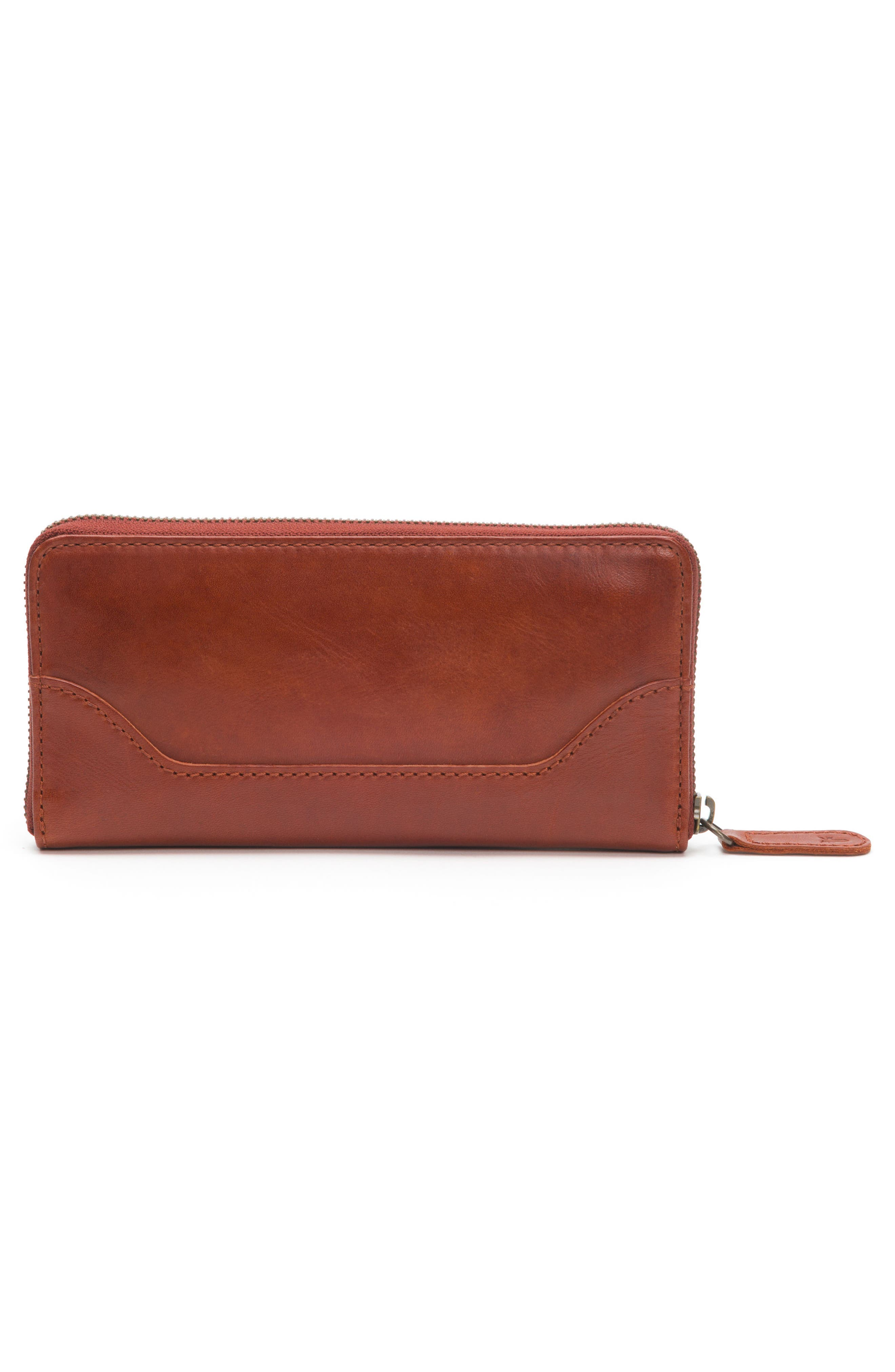 Melissa Leather Wallet,                             Alternate thumbnail 4, color,                             Red Clay