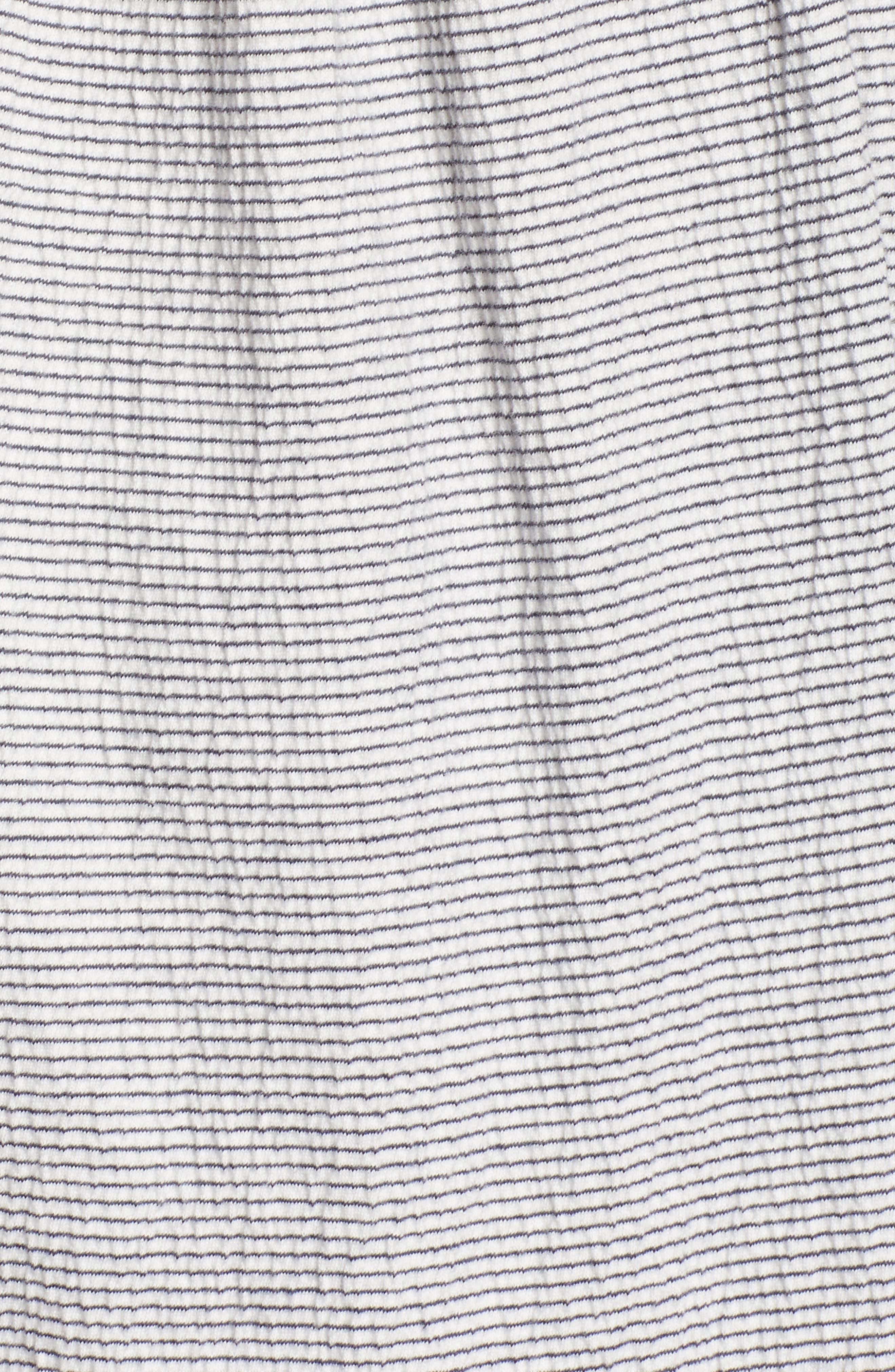 Ruffle Knit Top,                             Alternate thumbnail 6, color,                             Ivory- Navy Lynn Stripe