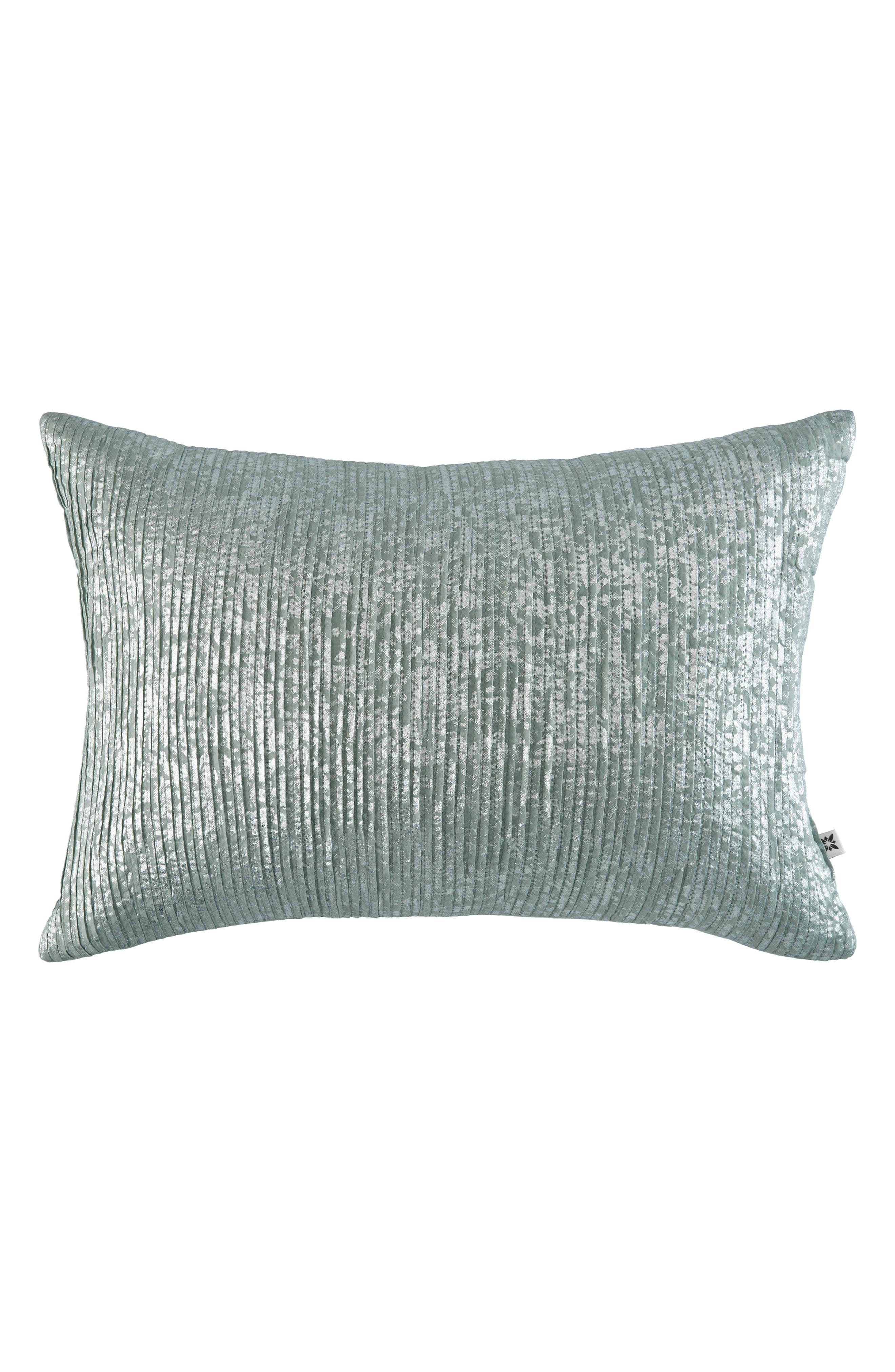 Metallic Ruched Accent Pillow,                         Main,                         color, Open Blue