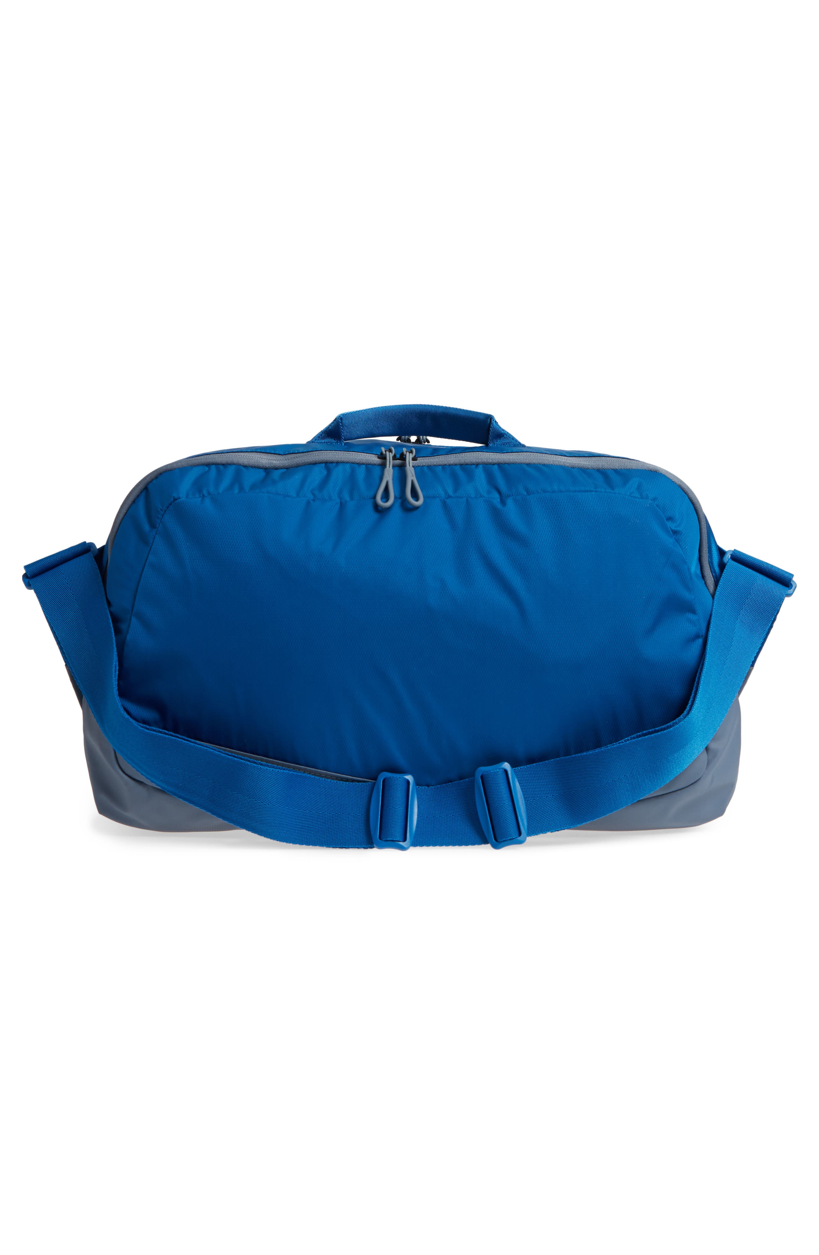 Run Duffel Bag,                             Alternate thumbnail 3, color,                             Blue Jay/ Armory Blue/ Silver