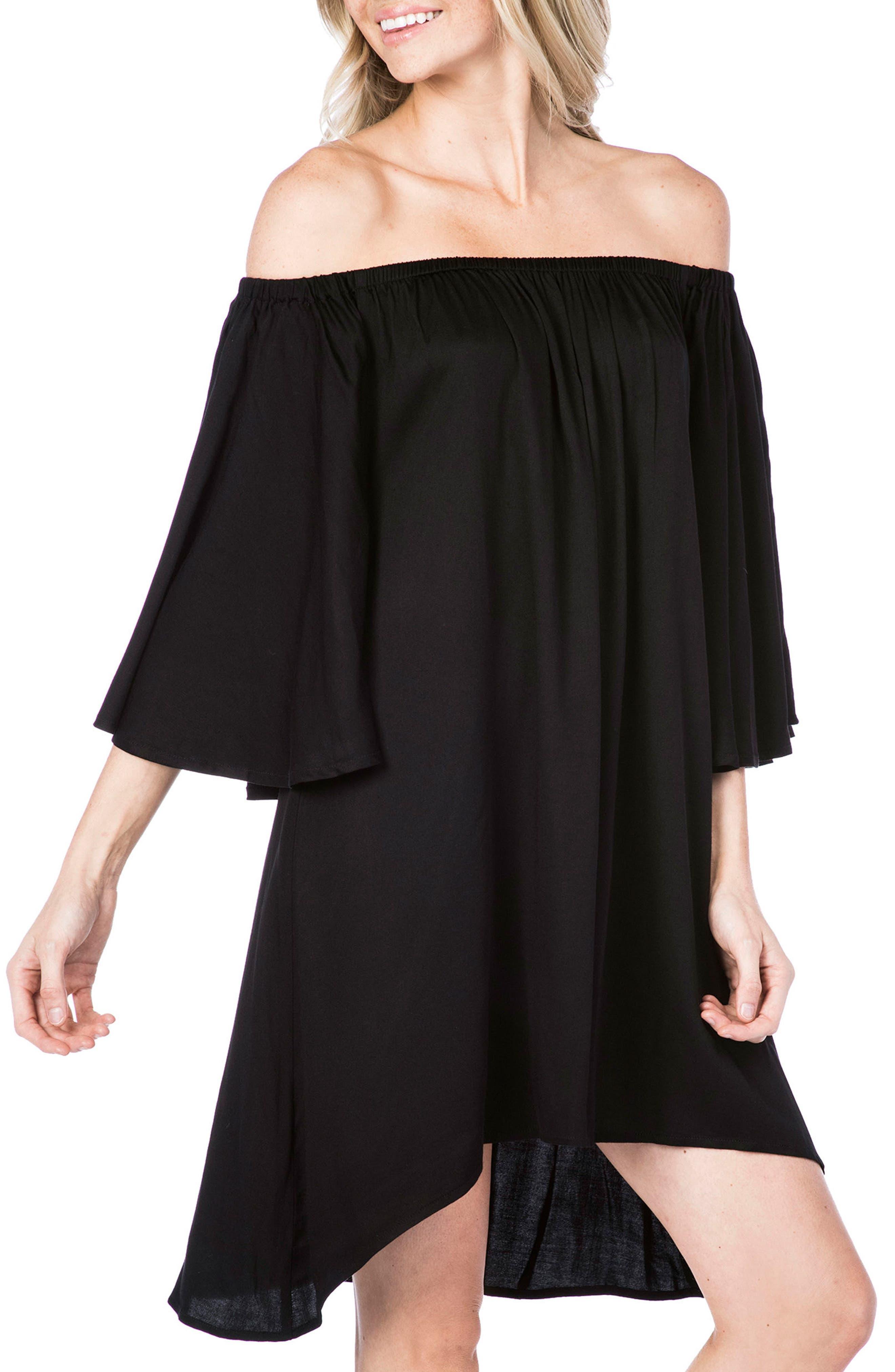 Cover-Up Dress,                             Main thumbnail 1, color,                             Black