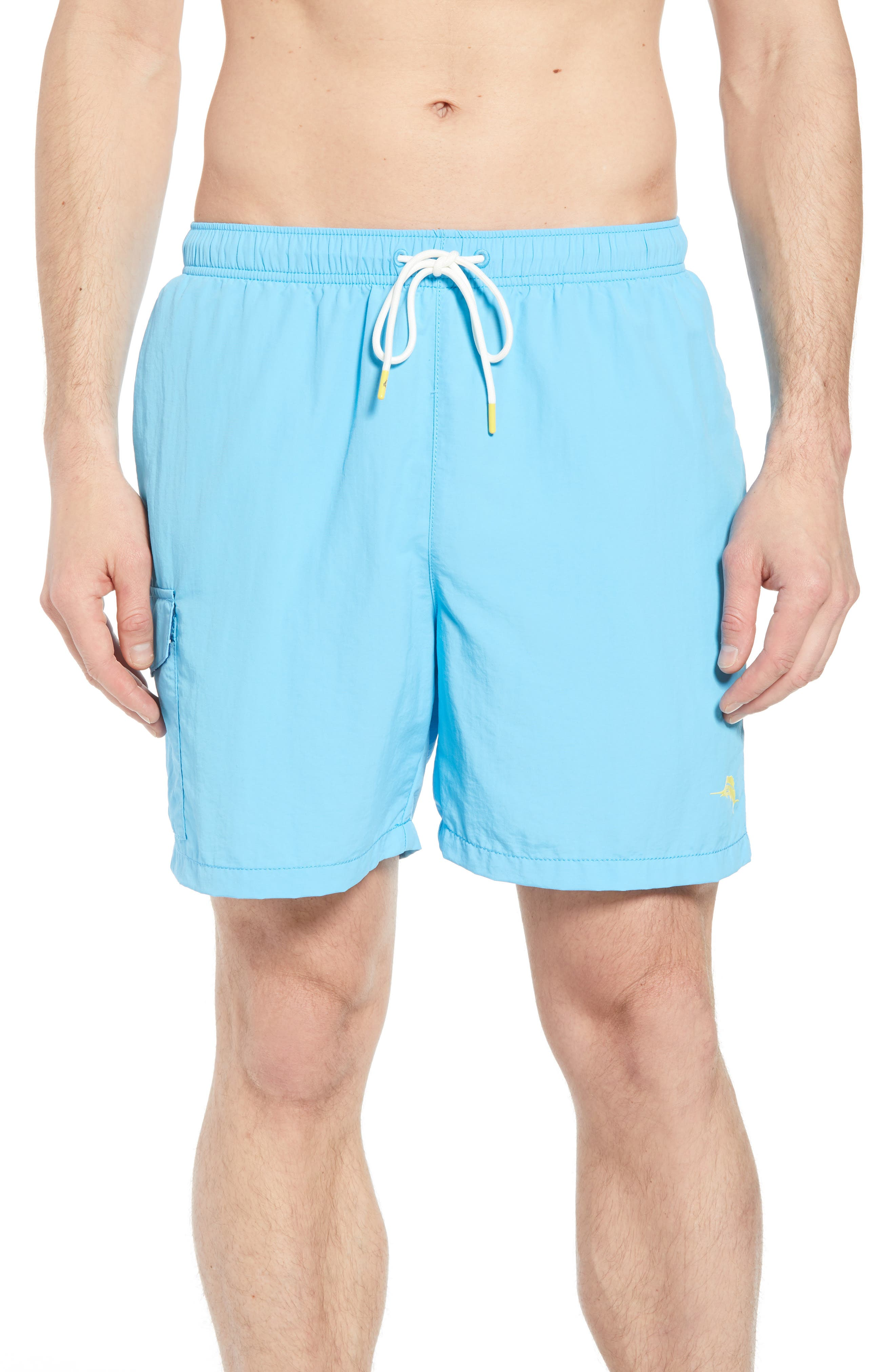 Naples Coast Swim Trunks,                         Main,                         color, Breeze Blue