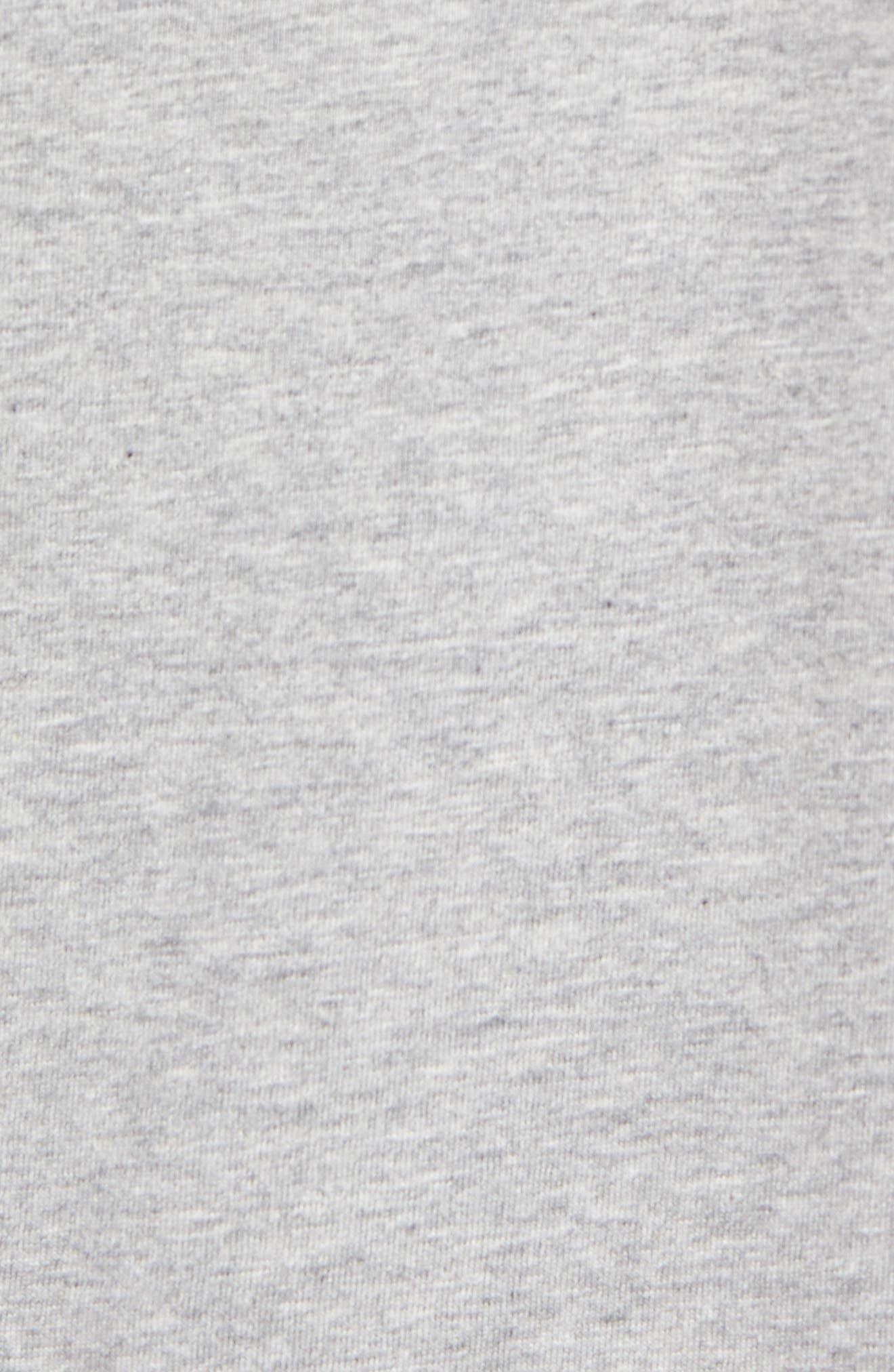 Print T-Shirt,                             Alternate thumbnail 5, color,                             Heather Grey