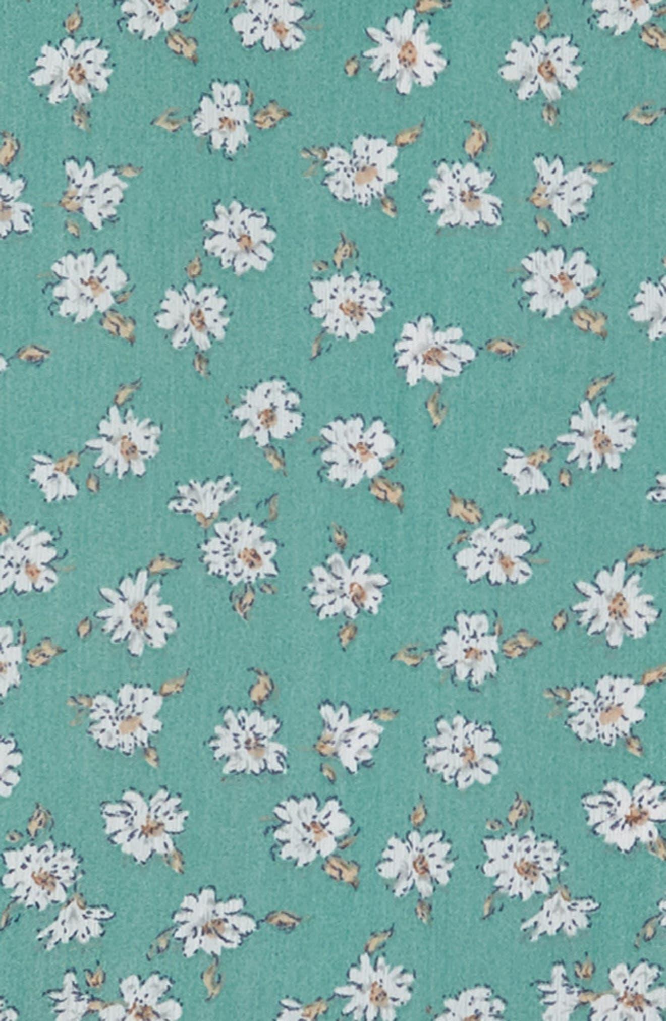 Brooklyn Floral Drop Waist Dress,                             Alternate thumbnail 3, color,                             Mint