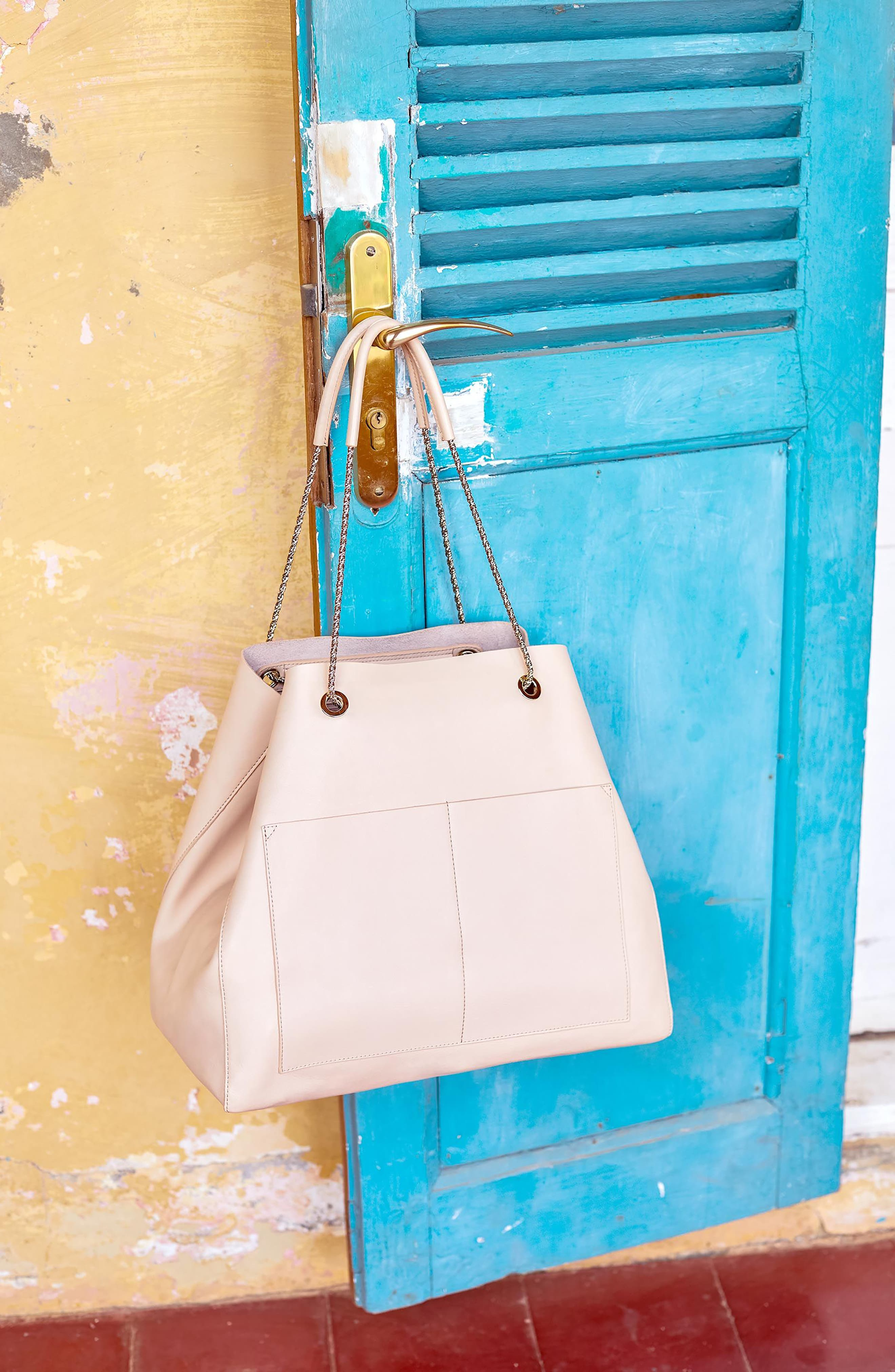 Gaby Leather Tote,                             Alternate thumbnail 2, color,