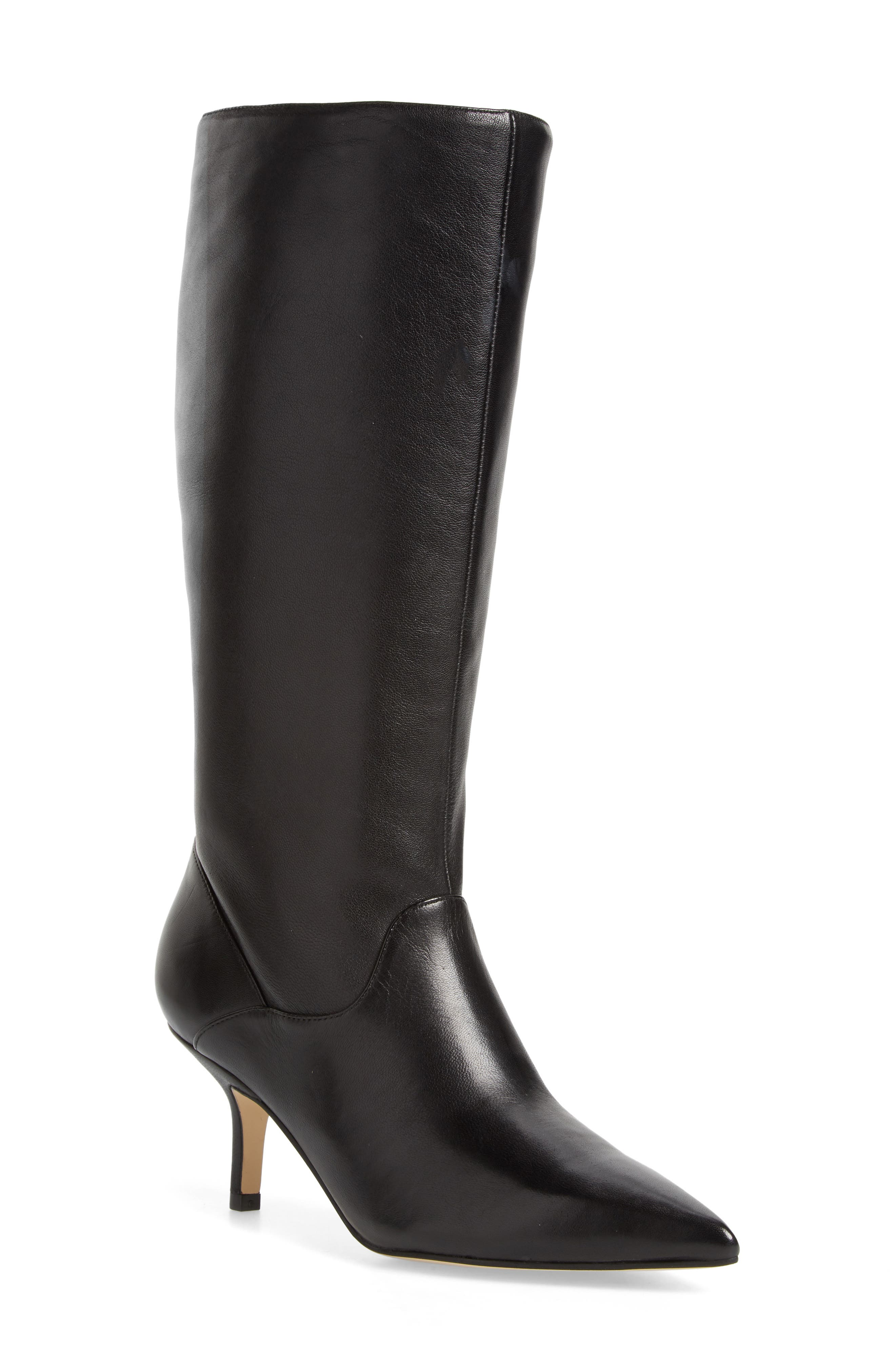 Dacey Boot,                             Main thumbnail 1, color,                             Black Leather