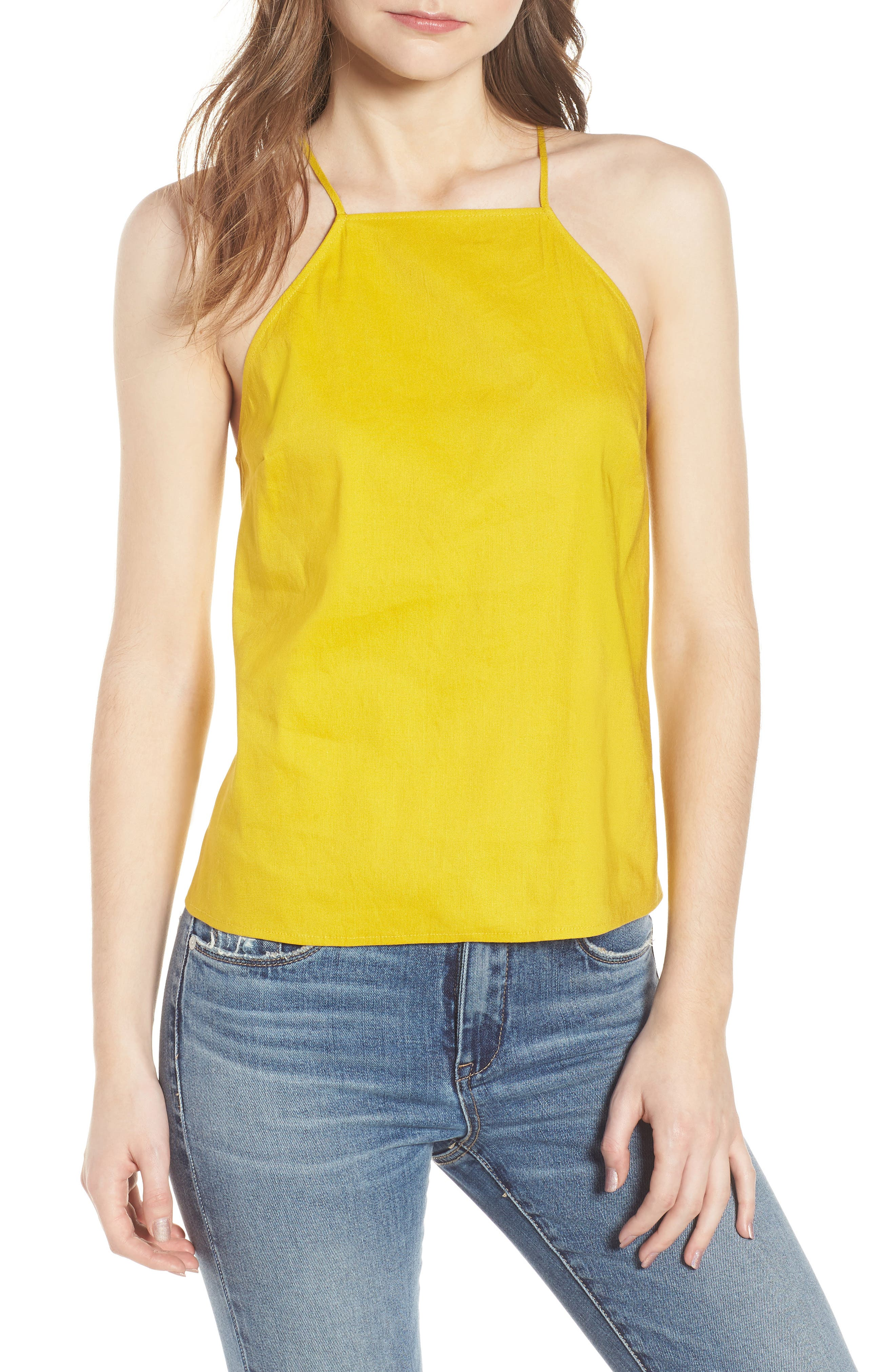 Linen Cami,                         Main,                         color, Yellow Tea