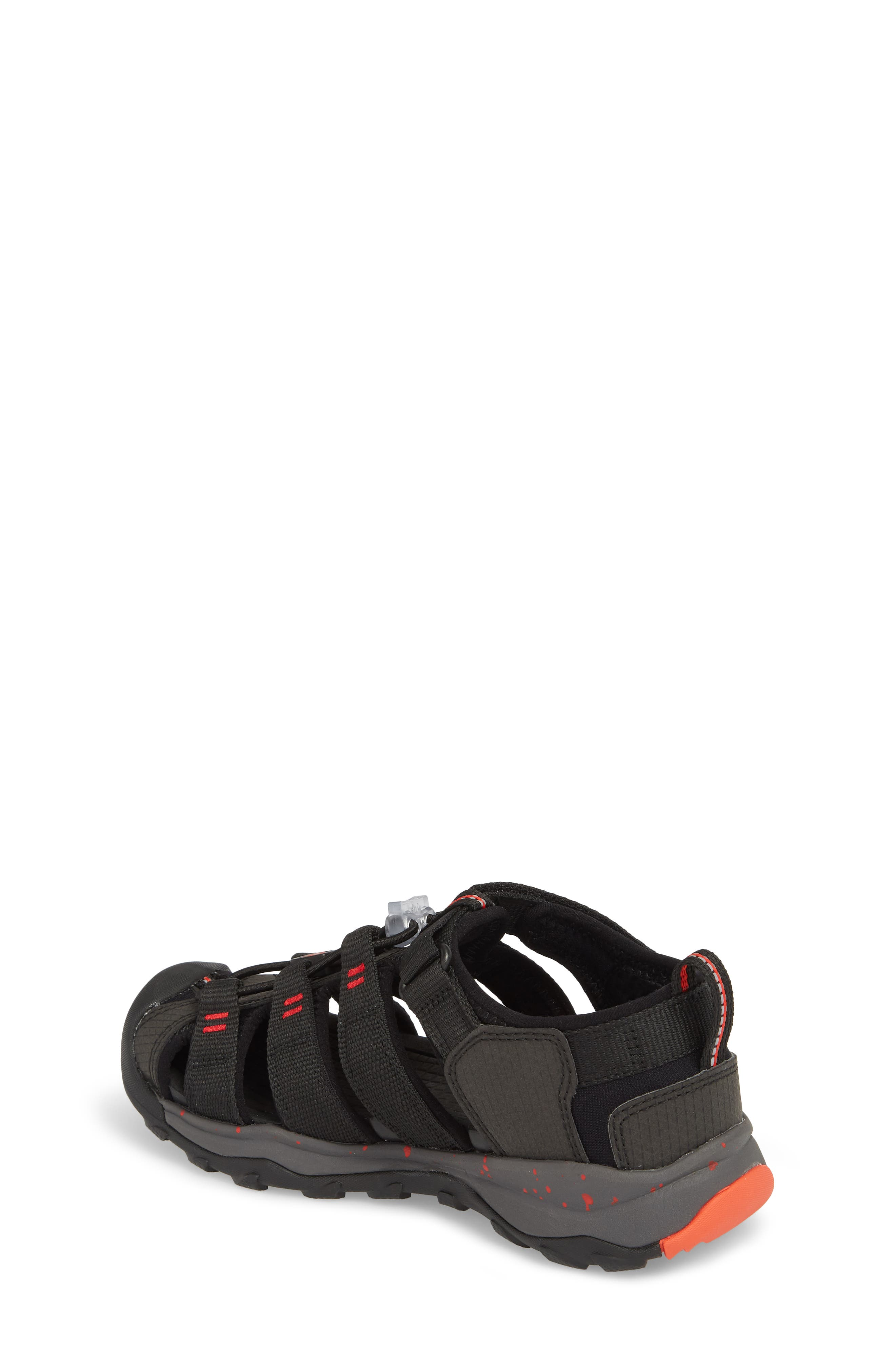 Newport Neo H2 Water Friendly Sandal,                             Alternate thumbnail 2, color,                             Black/ Fiery Red