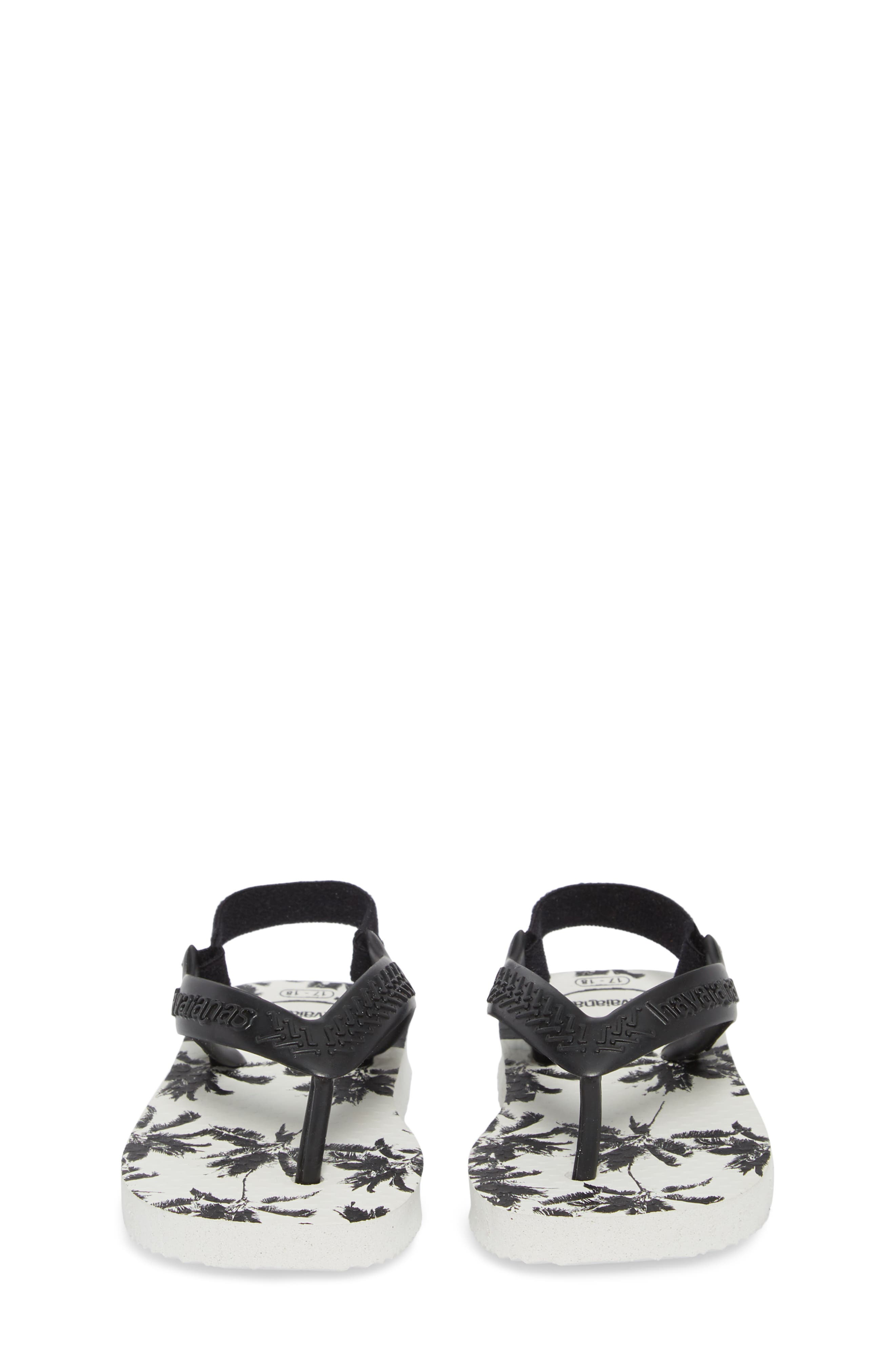 Havianas Baby Chic Sandal,                             Alternate thumbnail 5, color,                             White/ Black/ Black