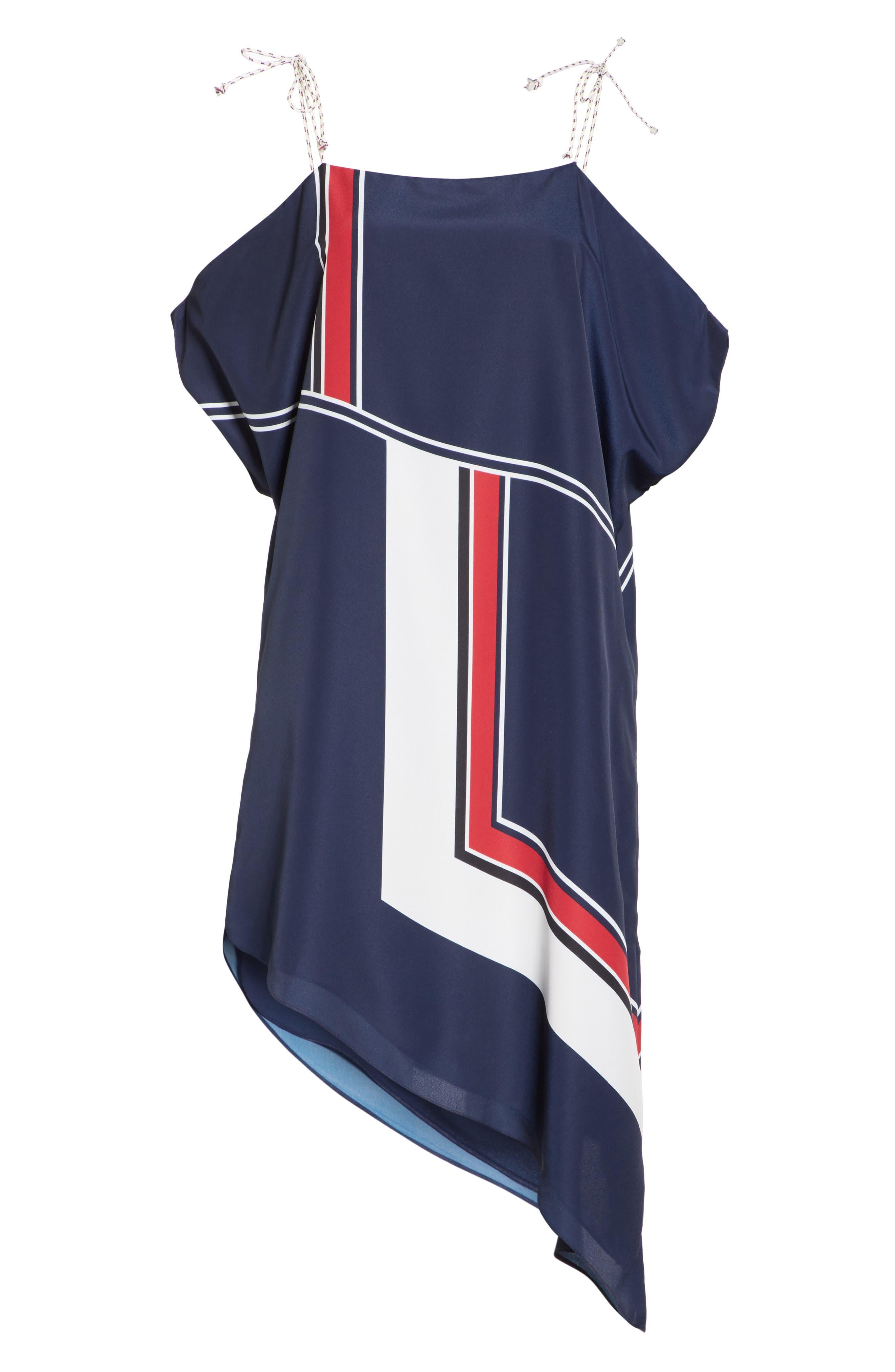 Edyte Asymmetrical Dress,                             Alternate thumbnail 6, color,                             Dark Navy