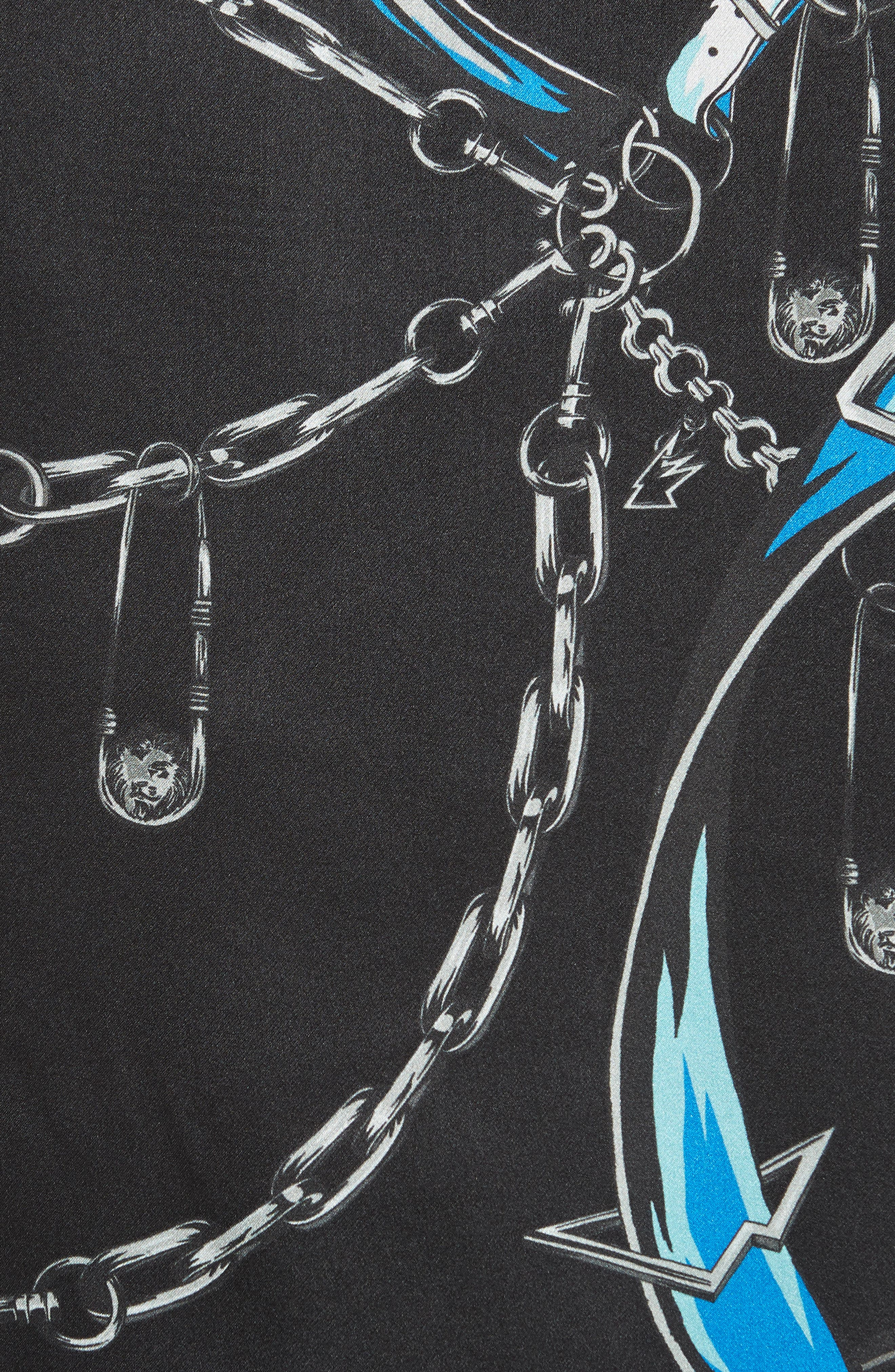 Camicia Print Shirt,                             Alternate thumbnail 5, color,                             Black/ Stampa