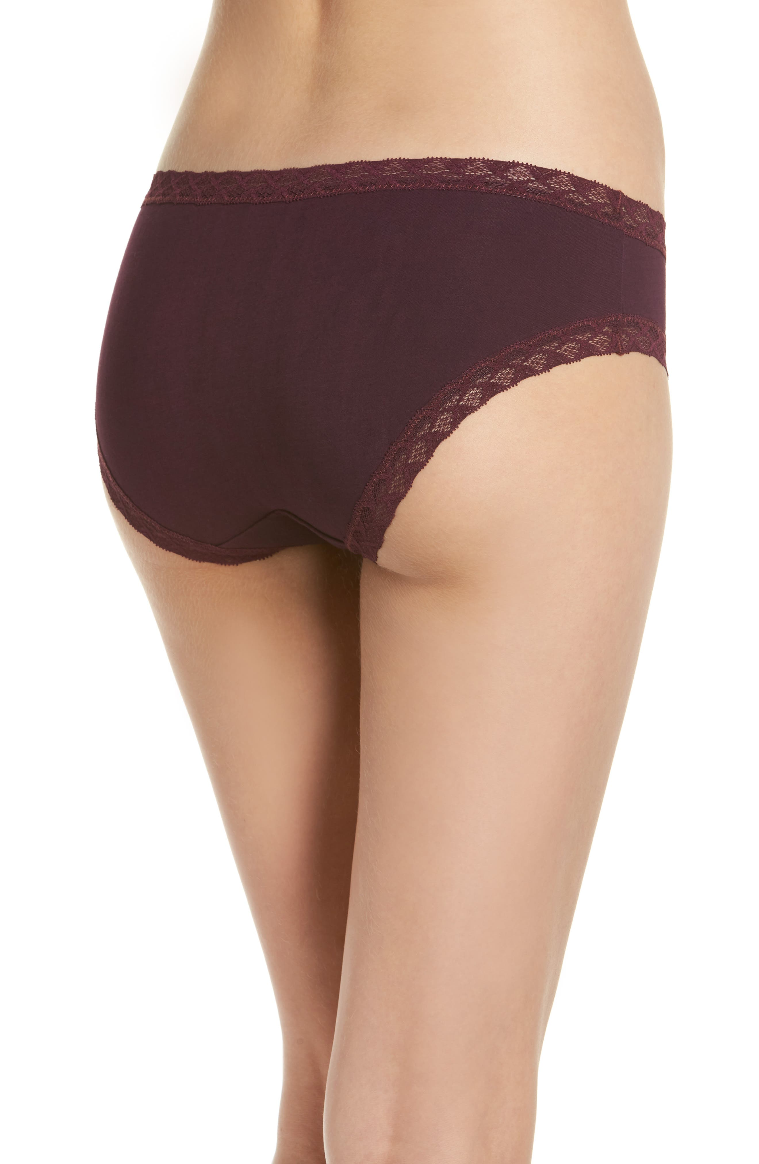 Bliss Cotton Girl Briefs,                             Alternate thumbnail 2, color,                             Potent Purple