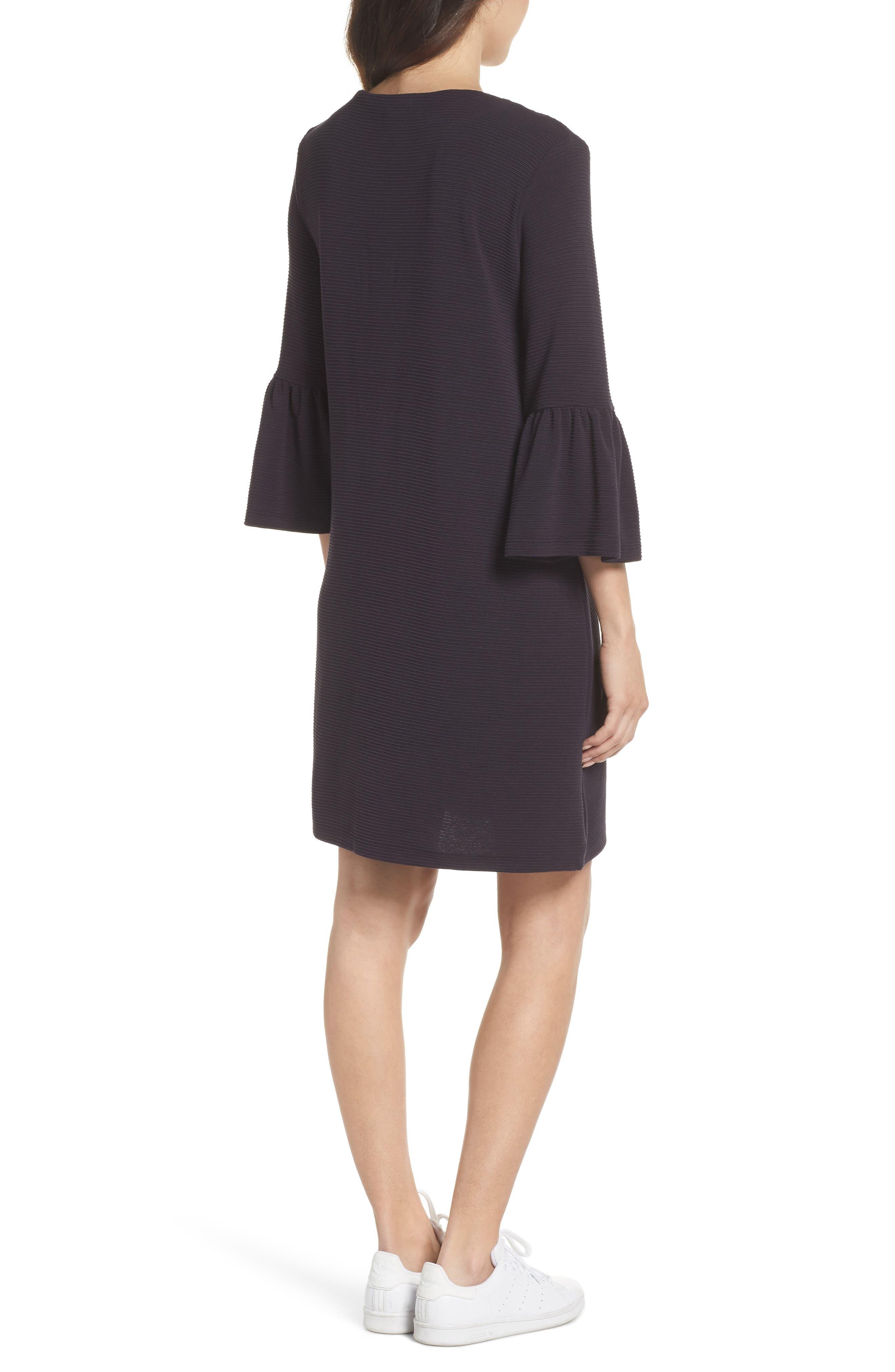 Paros Sudan Bell Sleeve Shift Dress,                             Alternate thumbnail 2, color,                             Utility Blue