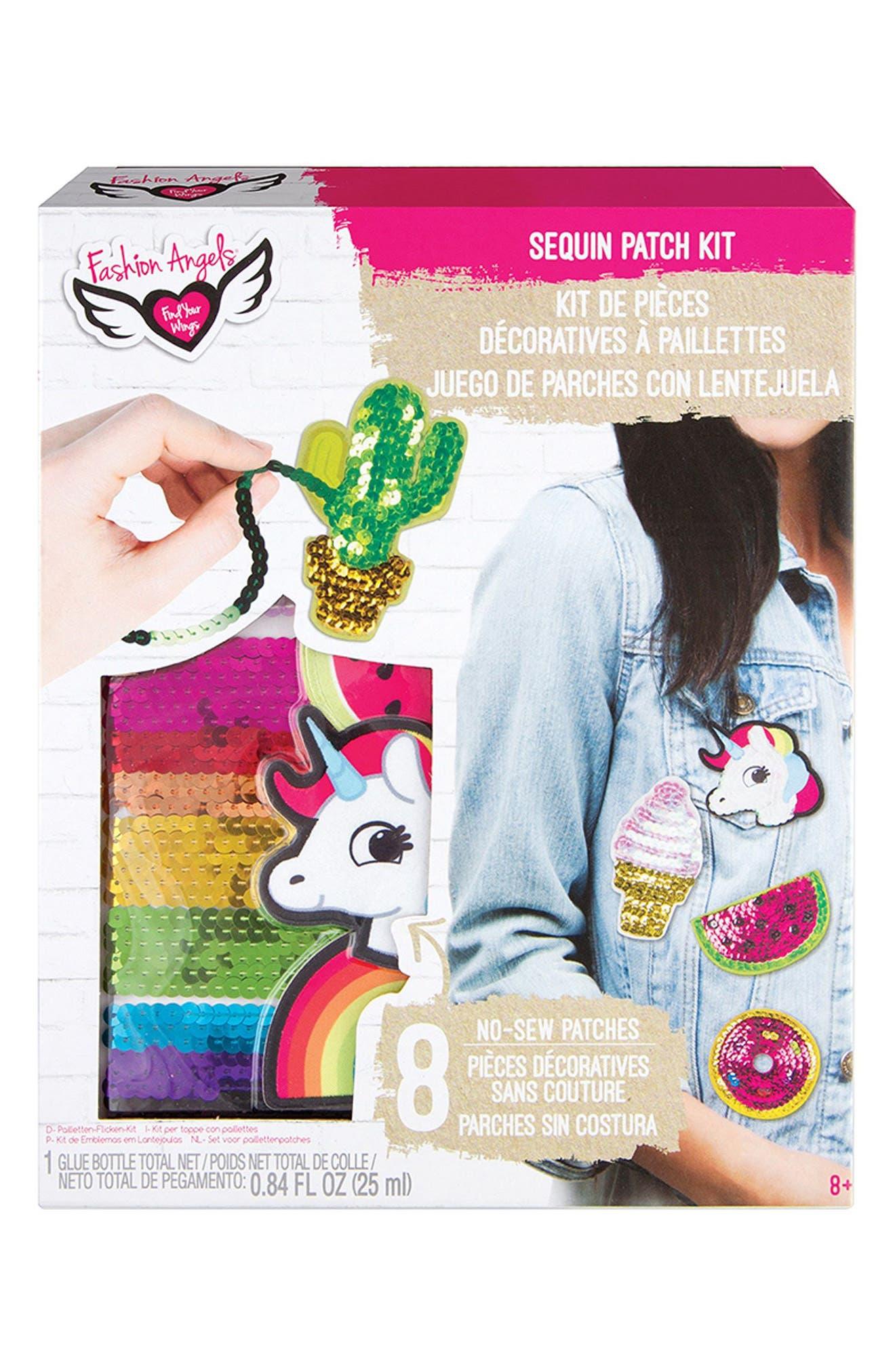 No-Sew Sequin Patch Kit,                             Main thumbnail 1, color,                             Multi