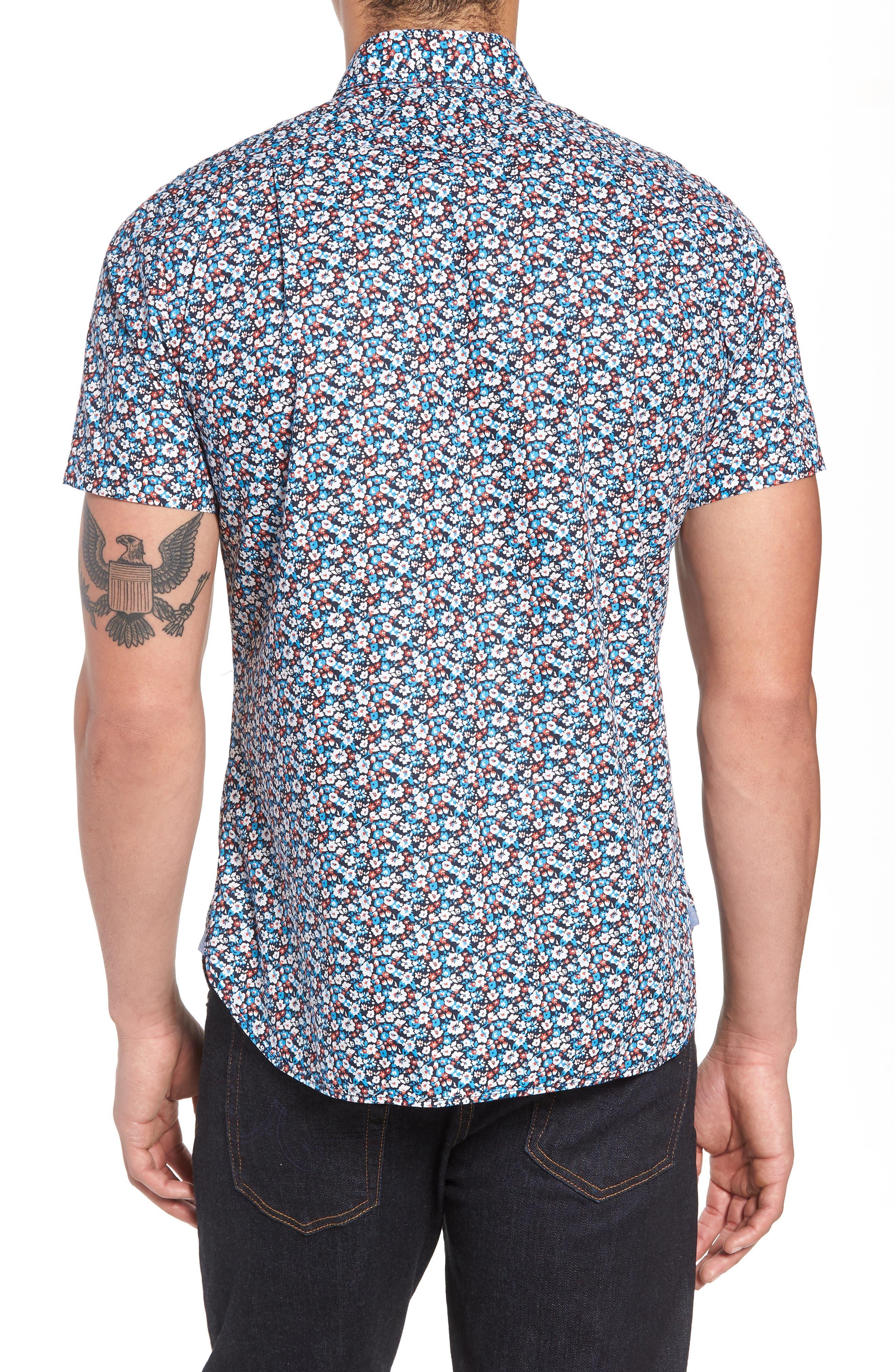 Woven Shirt,                             Alternate thumbnail 3, color,                             Navy