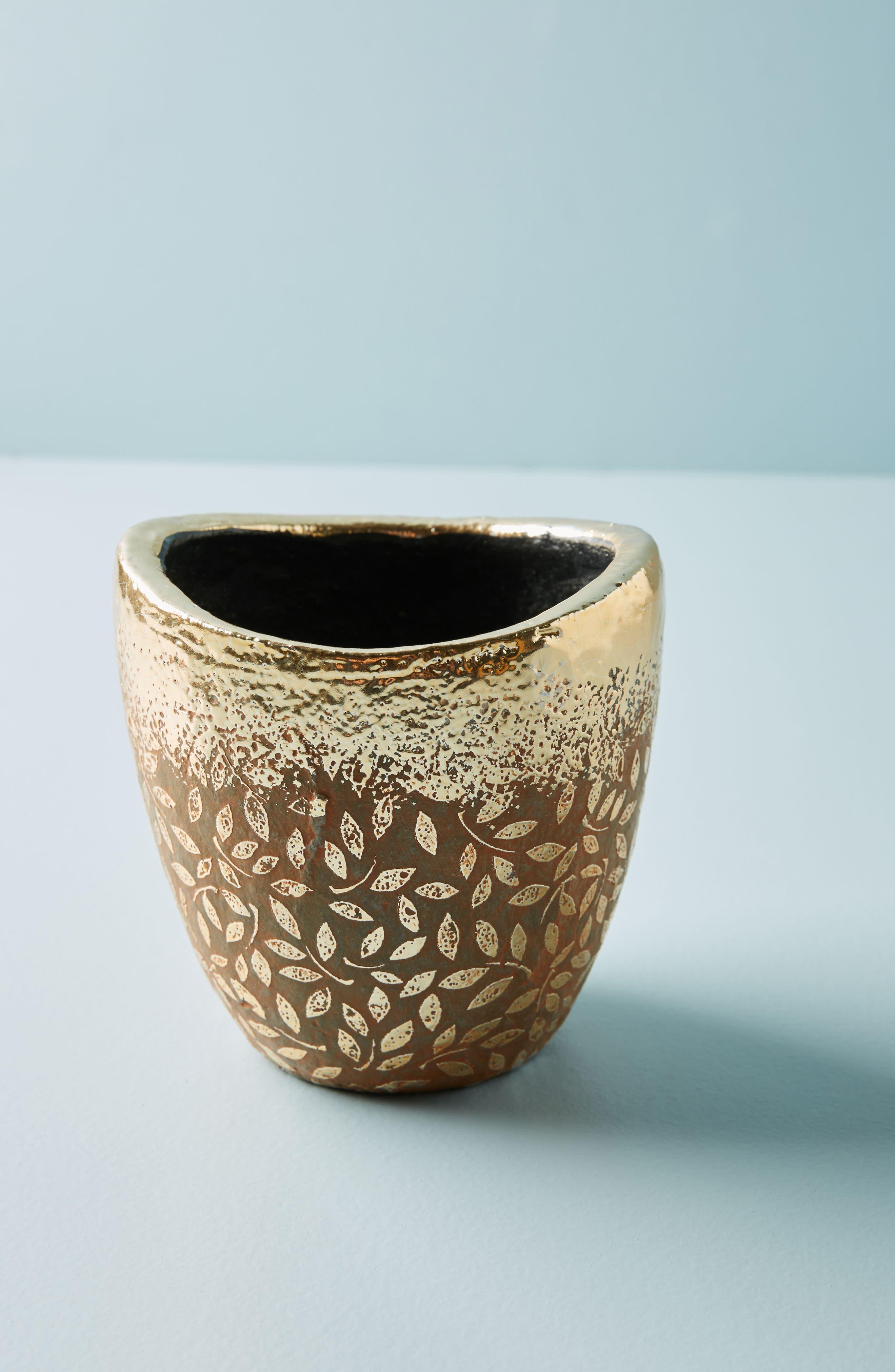 Studio Vine Pot,                         Main,                         color, Gold