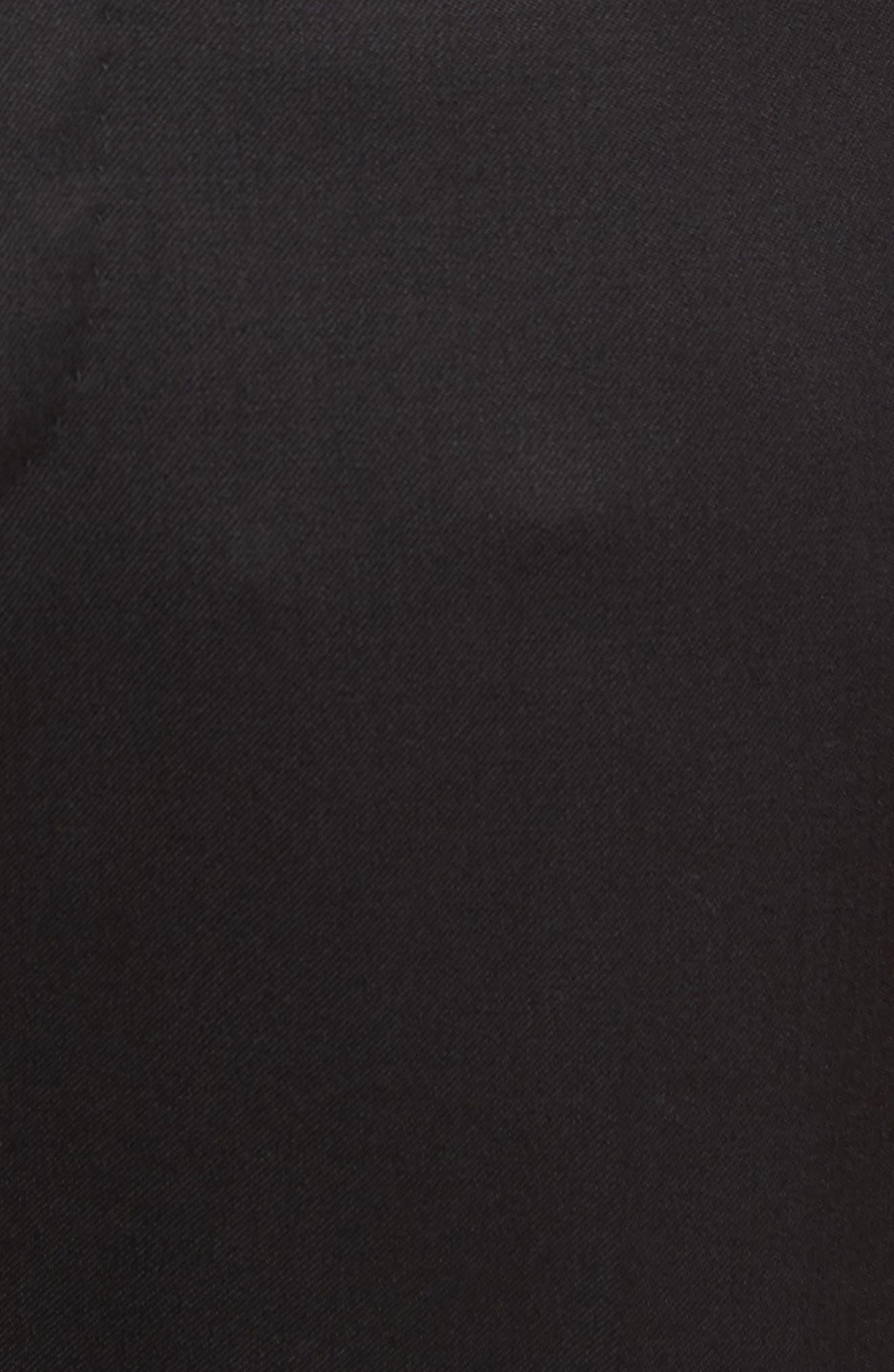 Silk Cummerbund & Pre-Tied Bow Tie Set,                             Alternate thumbnail 3, color,                             Black