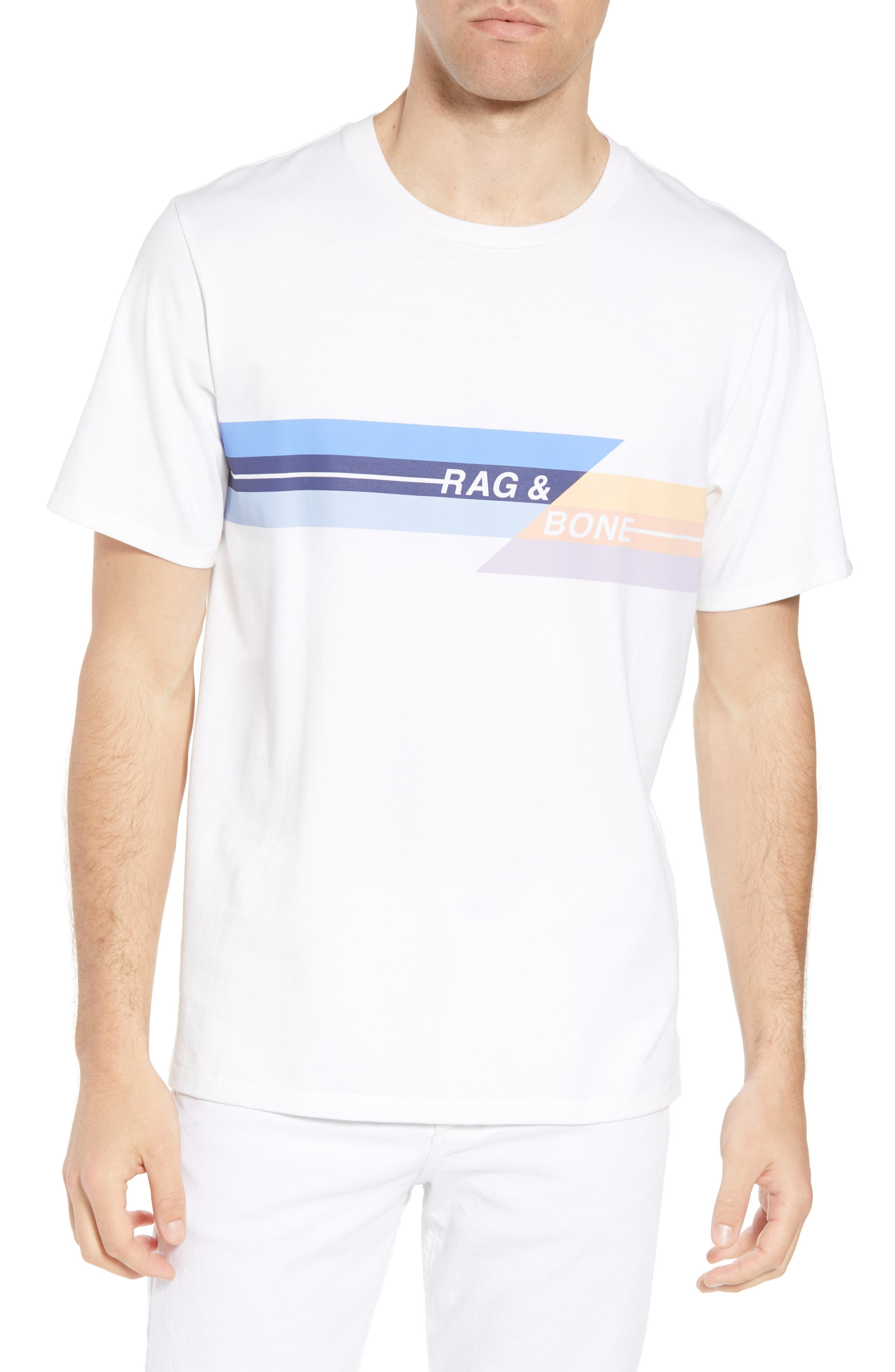 Glitch Regular Fit T-Shirt,                             Main thumbnail 1, color,                             White