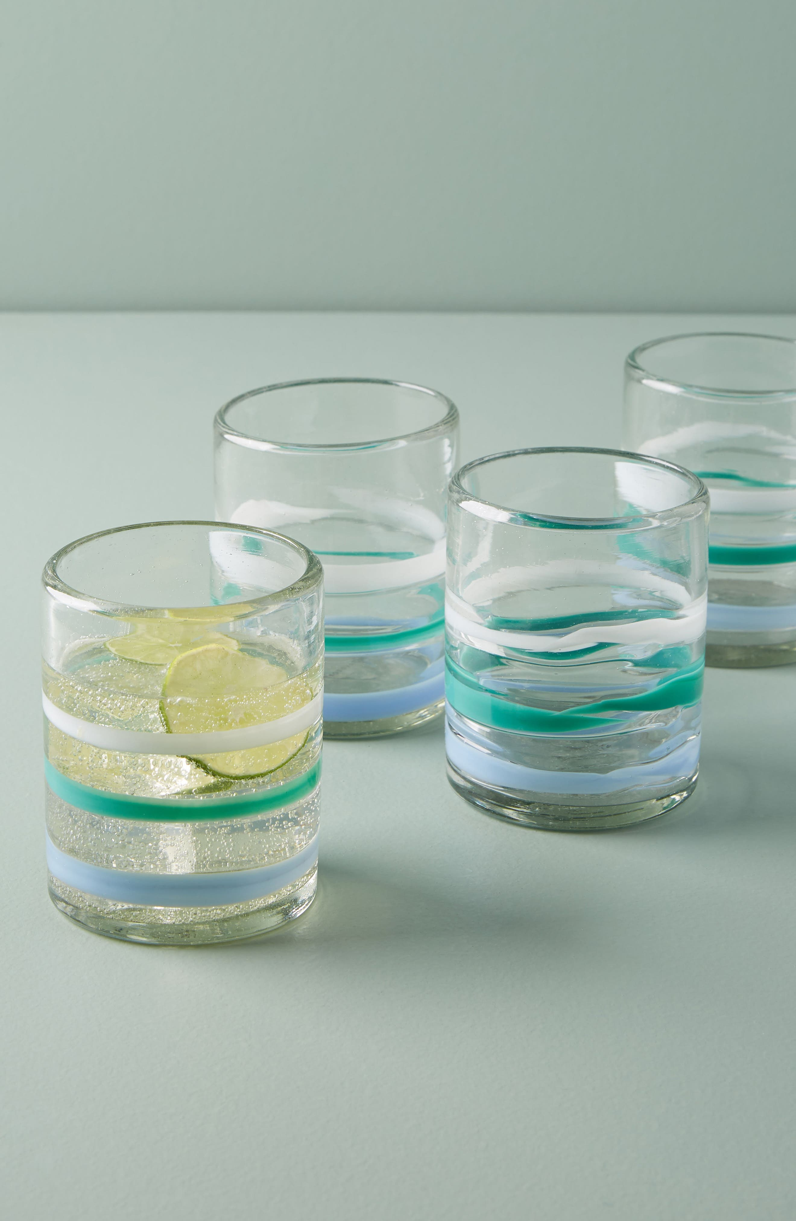 Anthropologie Pipiry Set of 4 Double Old Fashioned Glasses