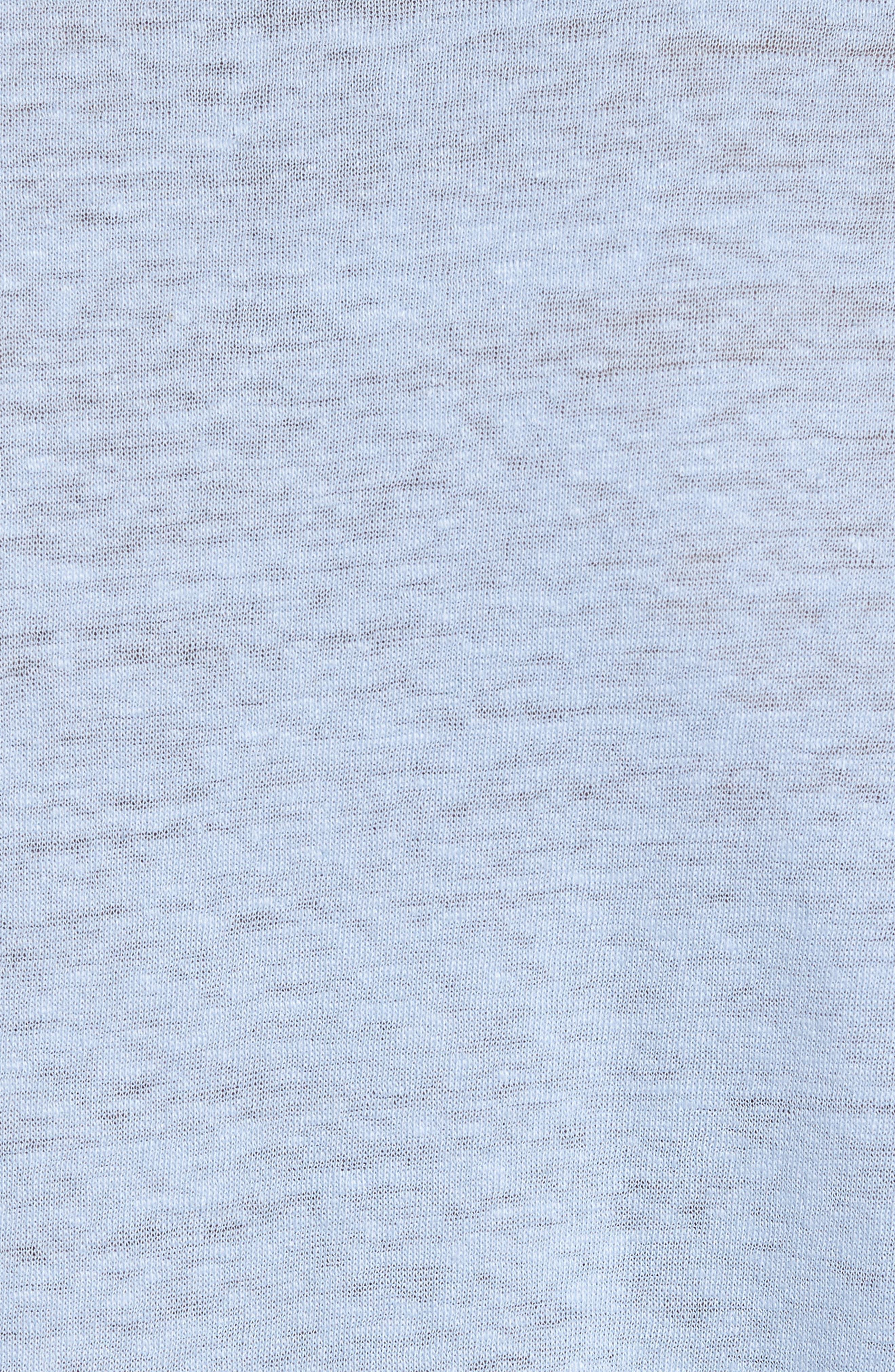Raw Hem Linen & Cotton T-Shirt,                             Alternate thumbnail 5, color,                             Feather