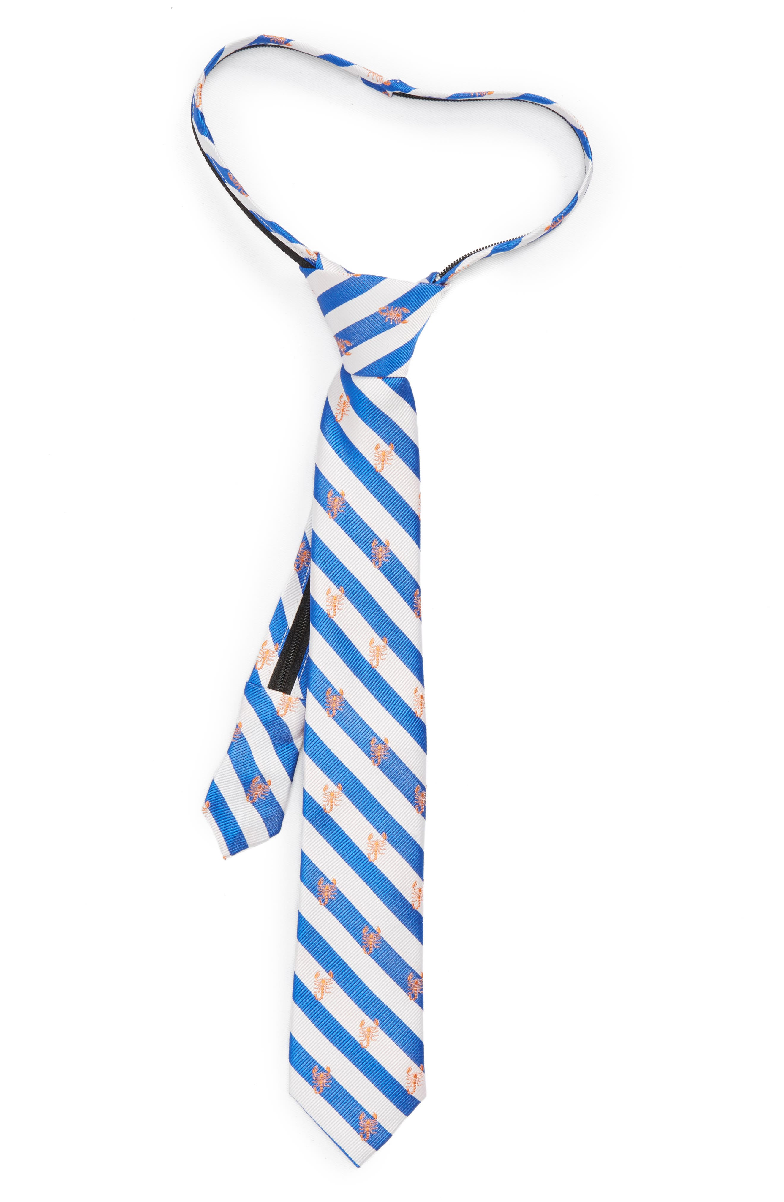 Nordstrom Scorpion Stripe Silk Zip Tie (Big Boys)