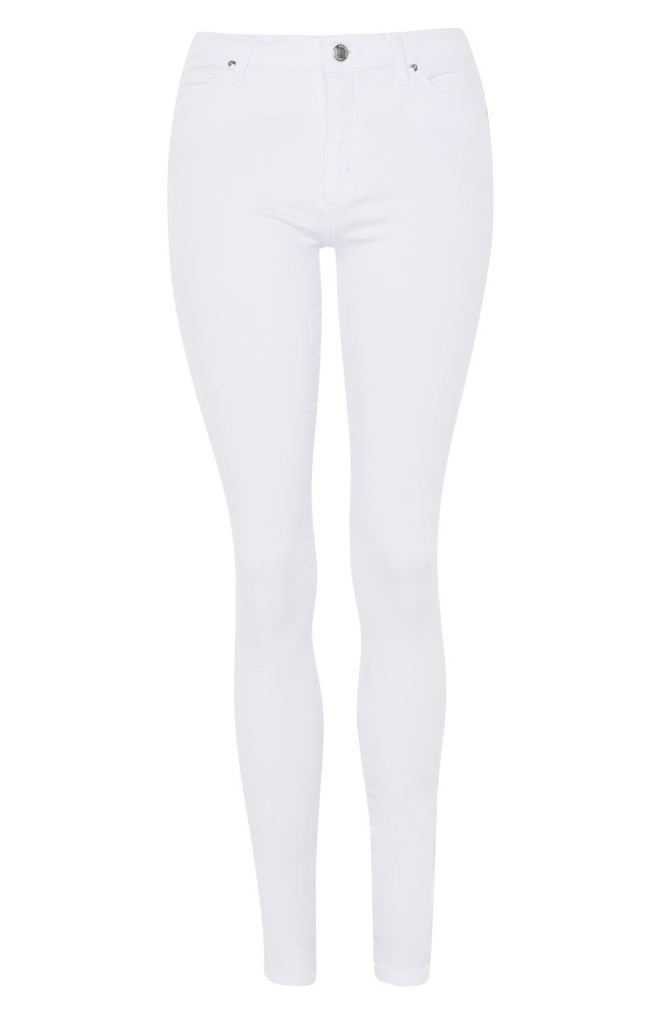 Leigh Skinny Jeans,                             Alternate thumbnail 4, color,                             White