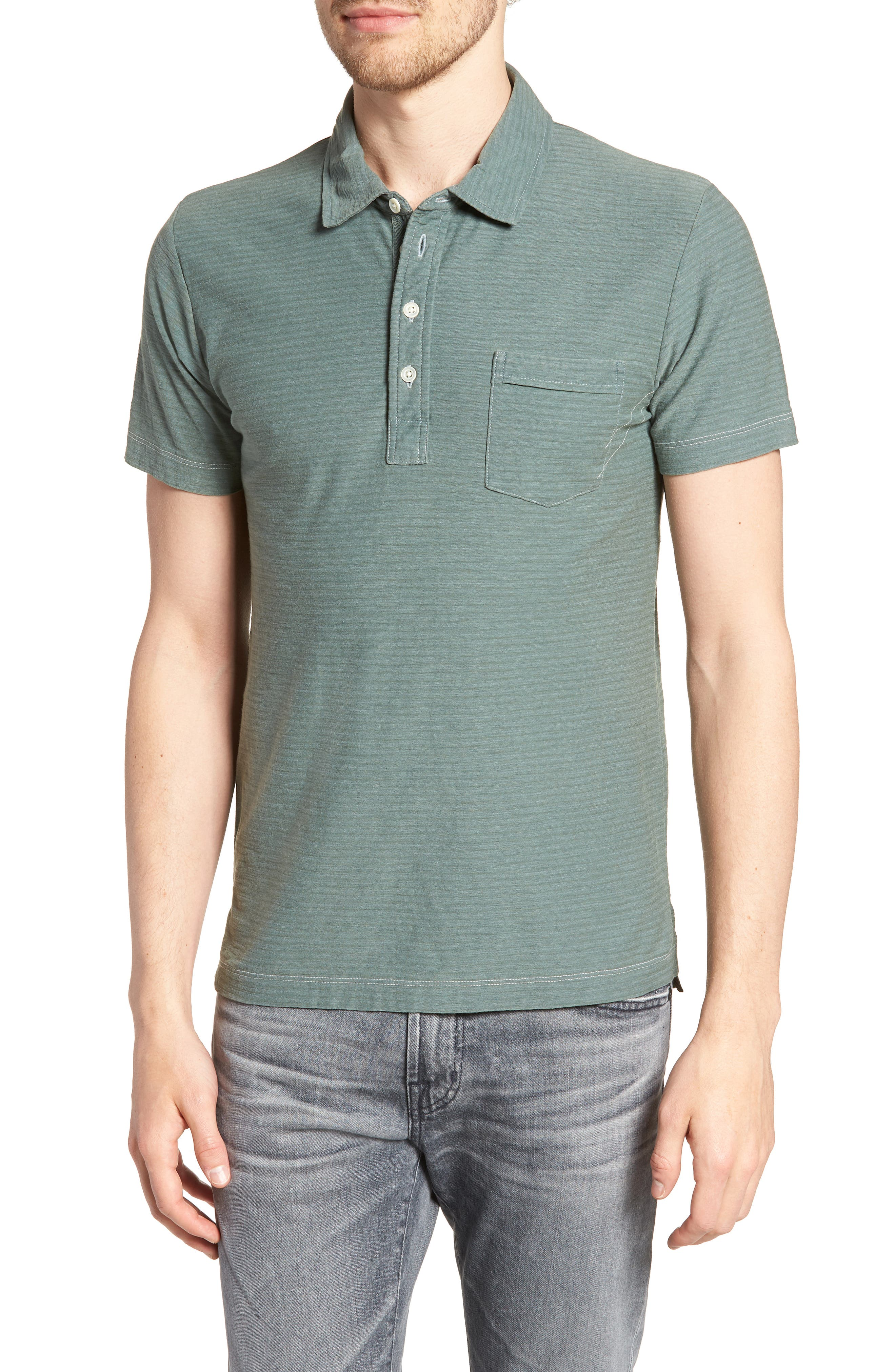 Pensacola Cotton Blend Polo Shirt,                             Main thumbnail 1, color,                             Sage
