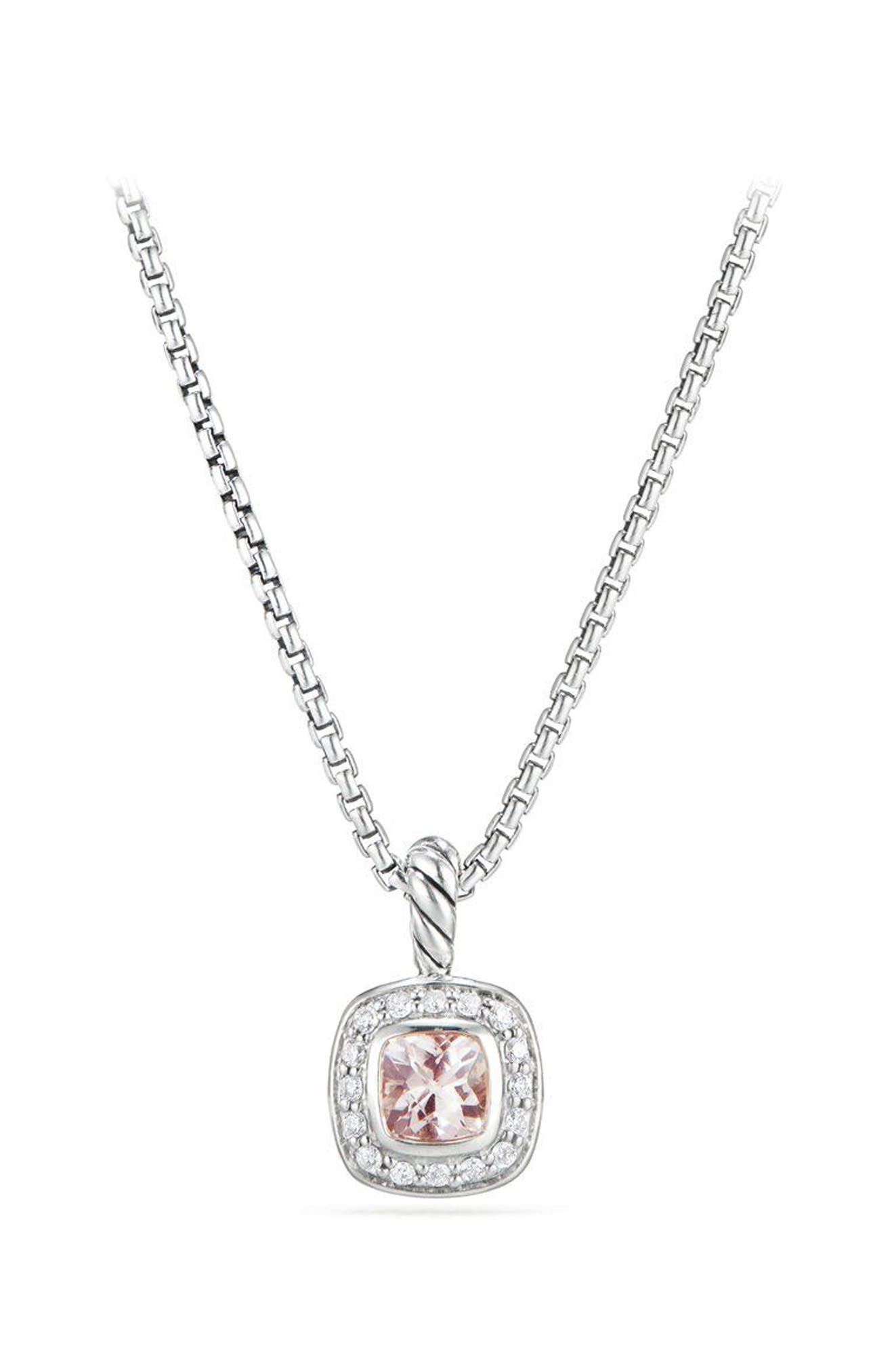 Albion<sup>®</sup> Necklace with Diamonds,                         Main,                         color, Morganite