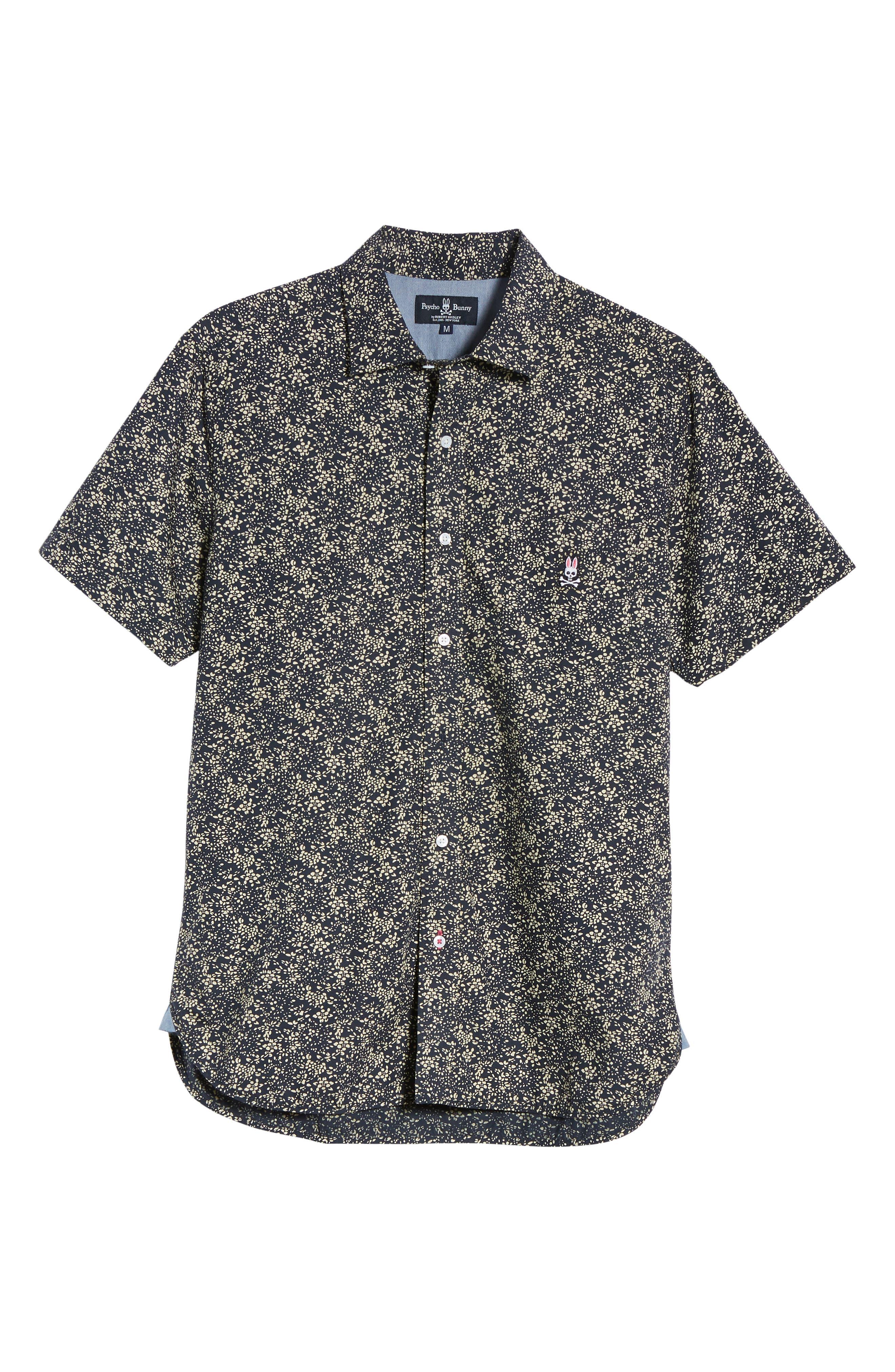 Print Sport Shirt,                             Alternate thumbnail 6, color,                             Navy