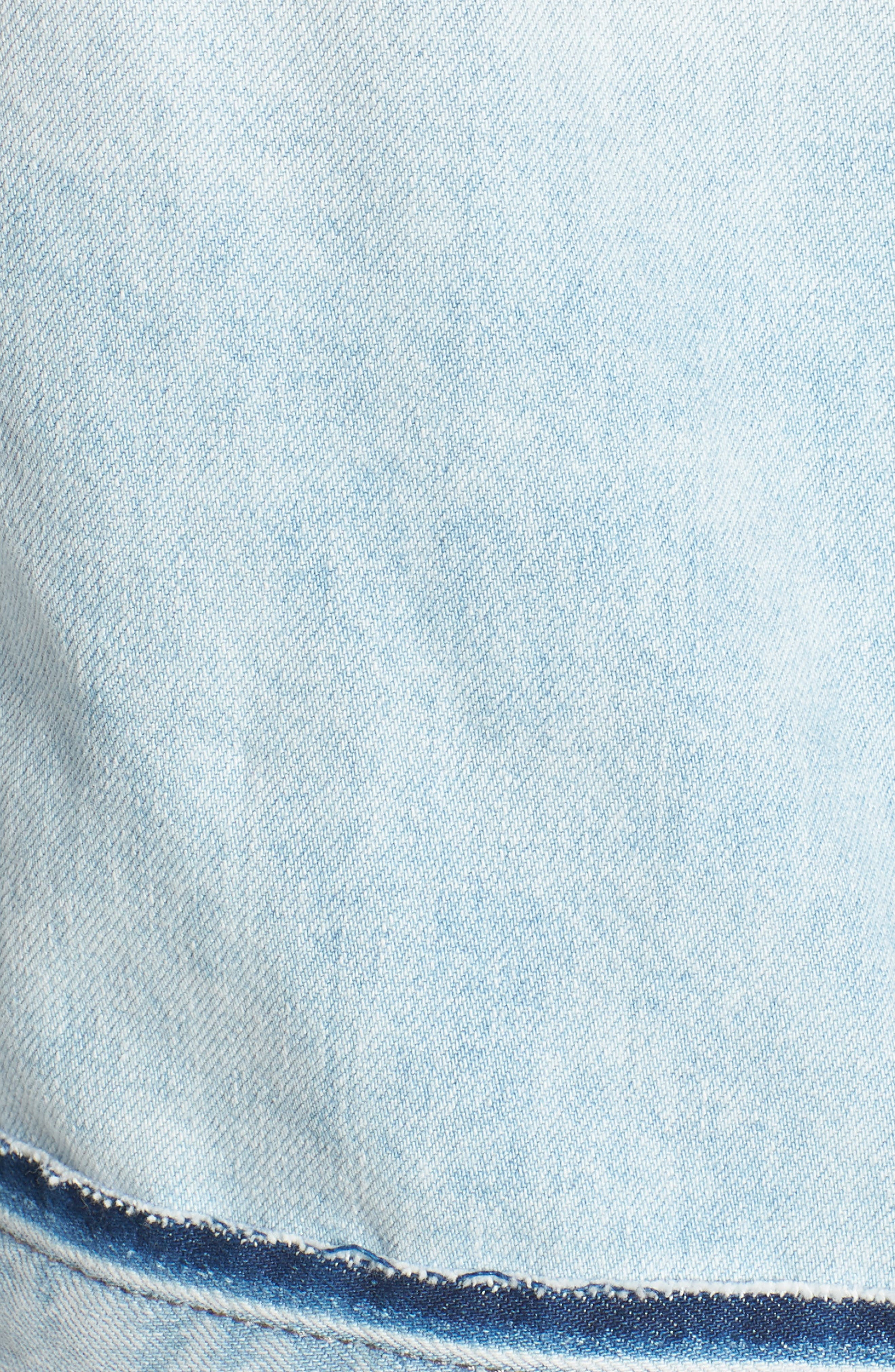 Shawn Crop Boyfriend Denim Jacket,                             Alternate thumbnail 6, color,                             Graceland