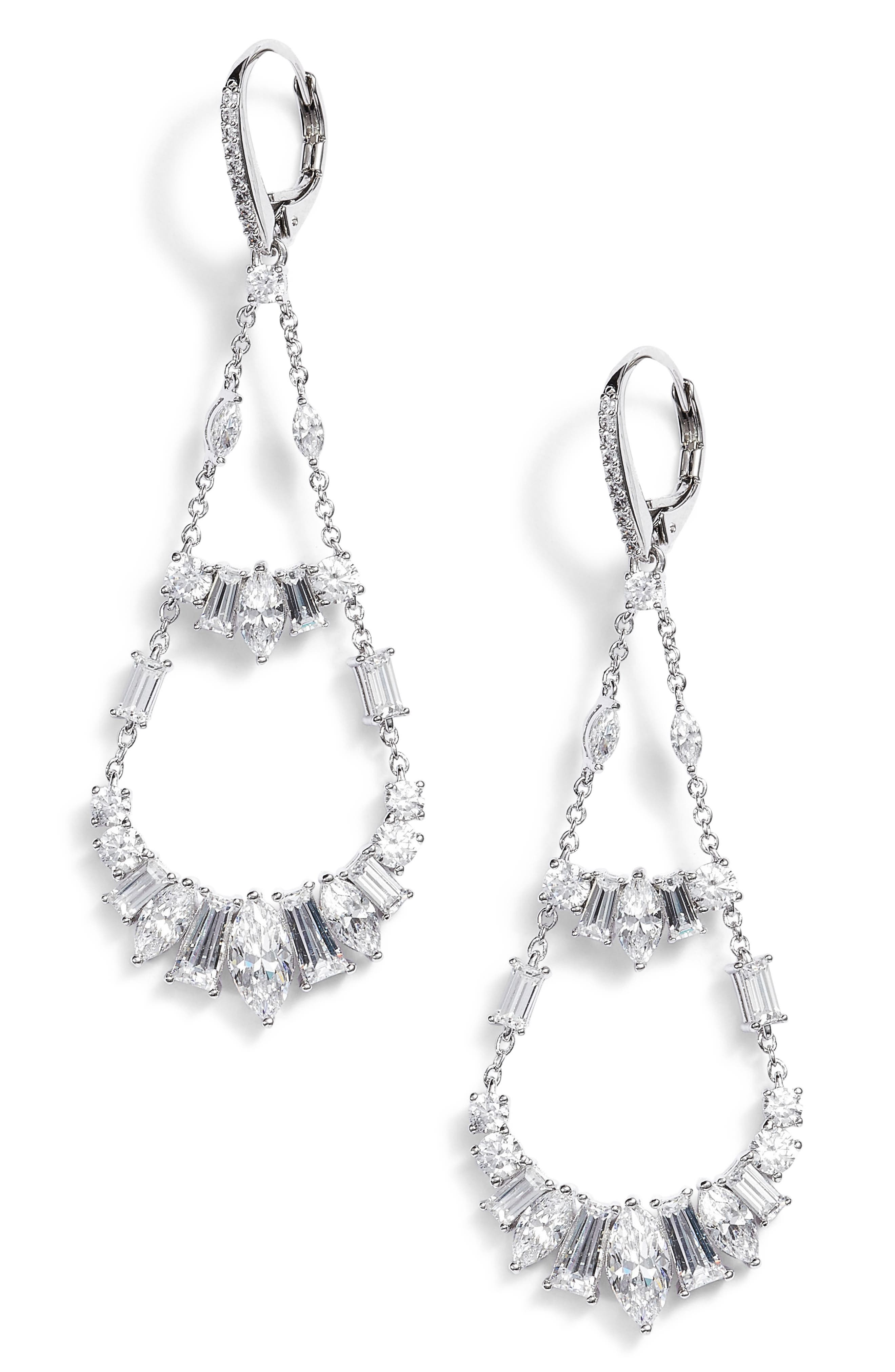 Nadri Fanfare Chandelier Earrings