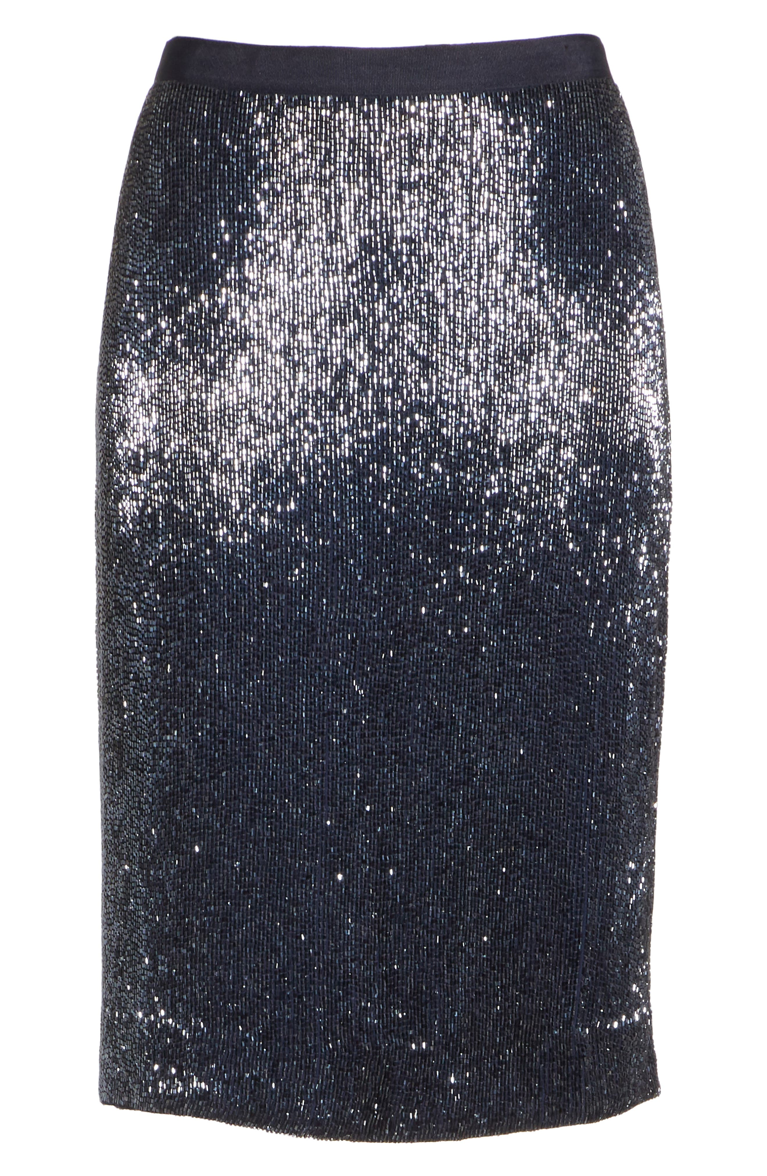 Edryce Beaded Pencil Skirt,                             Alternate thumbnail 7, color,                             Dark Navy
