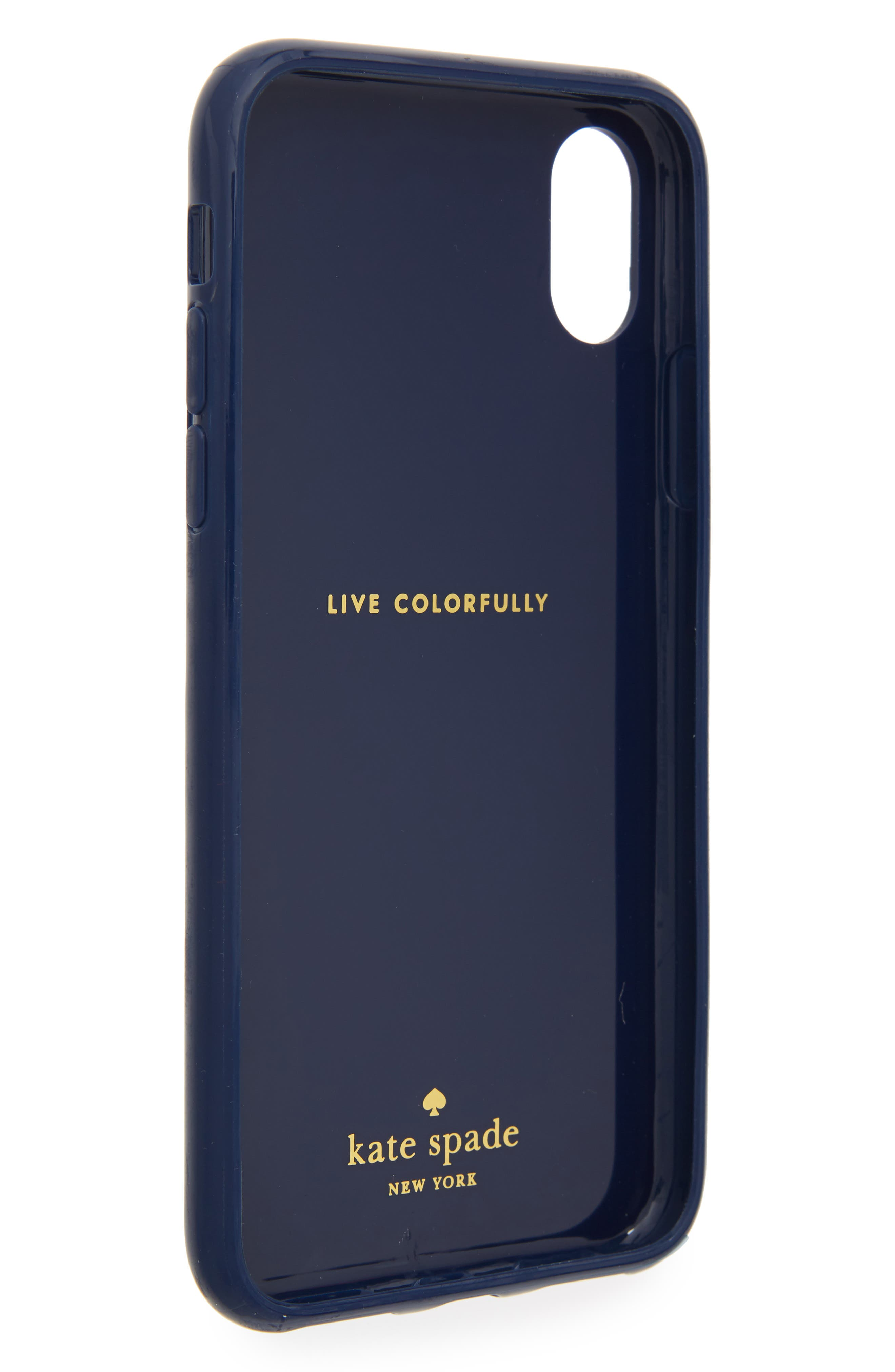desert stripe iPhone X case,                             Alternate thumbnail 2, color,                             Blue Multi
