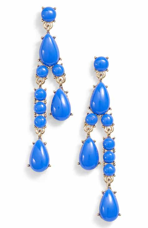 earrings blue fpx stone product marchesa pc jewelry shop tone crystal set gold