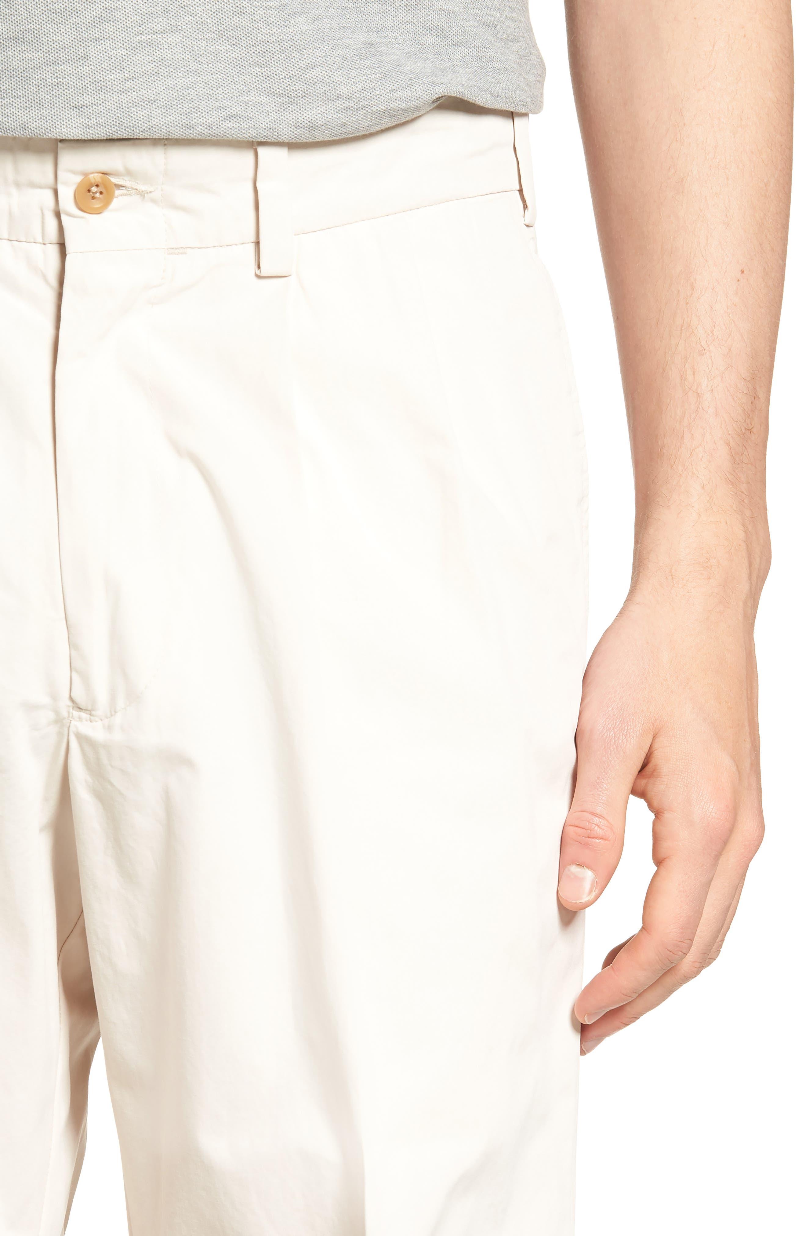 M2 Classic Fit Pleated Tropical Cotton Poplin Shorts,                             Alternate thumbnail 4, color,                             Sand