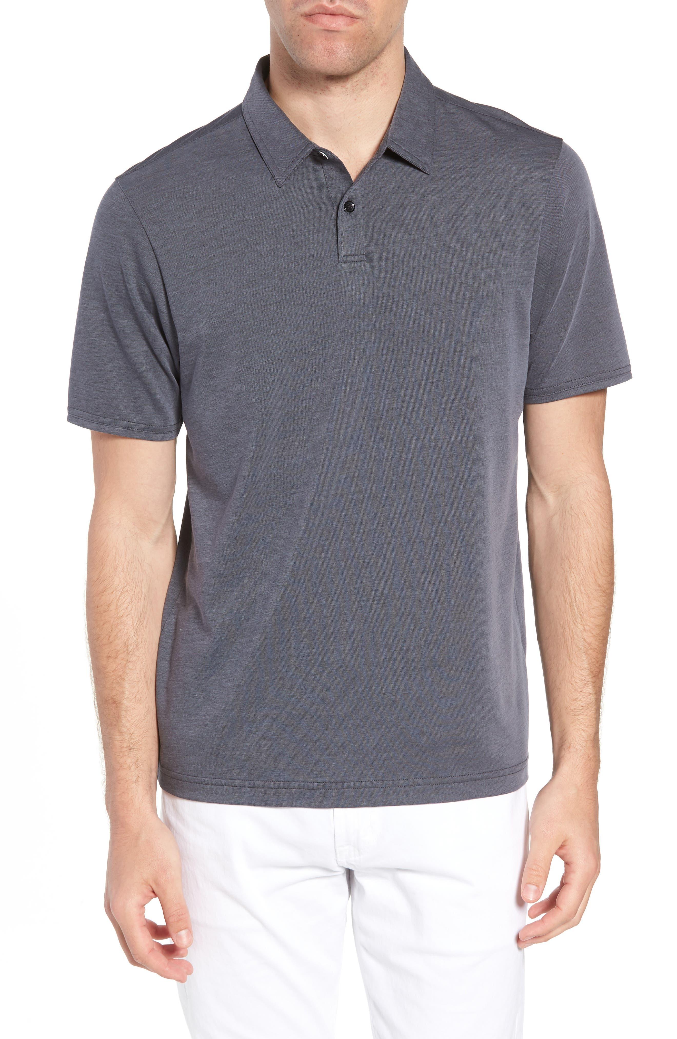 Shalene Regular Fit Polo,                             Main thumbnail 1, color,                             Grisaille/ Black